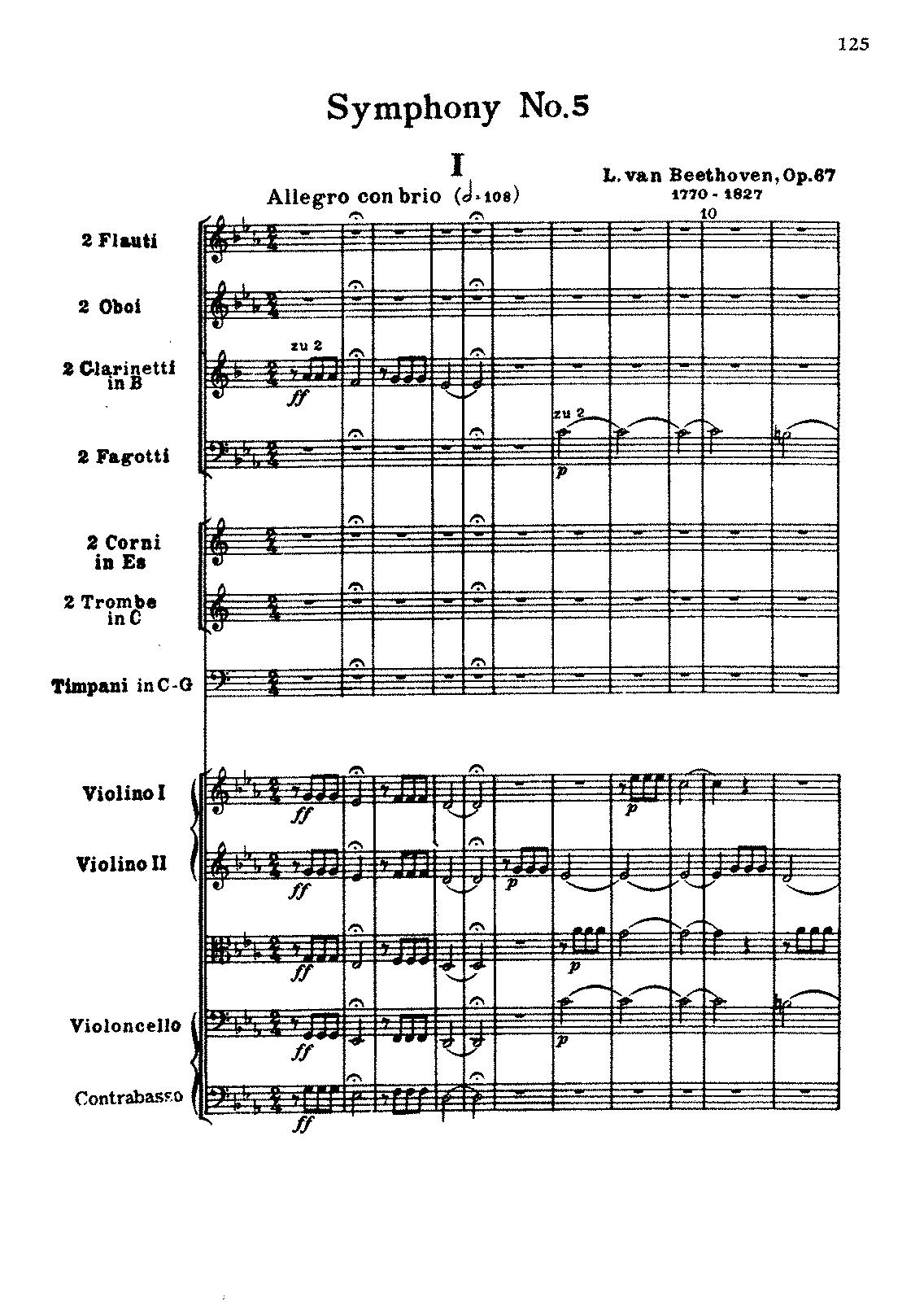 Symphony No.5, Op.67 (Beethoven, Ludwig van) - IMSLP/Petrucci ...