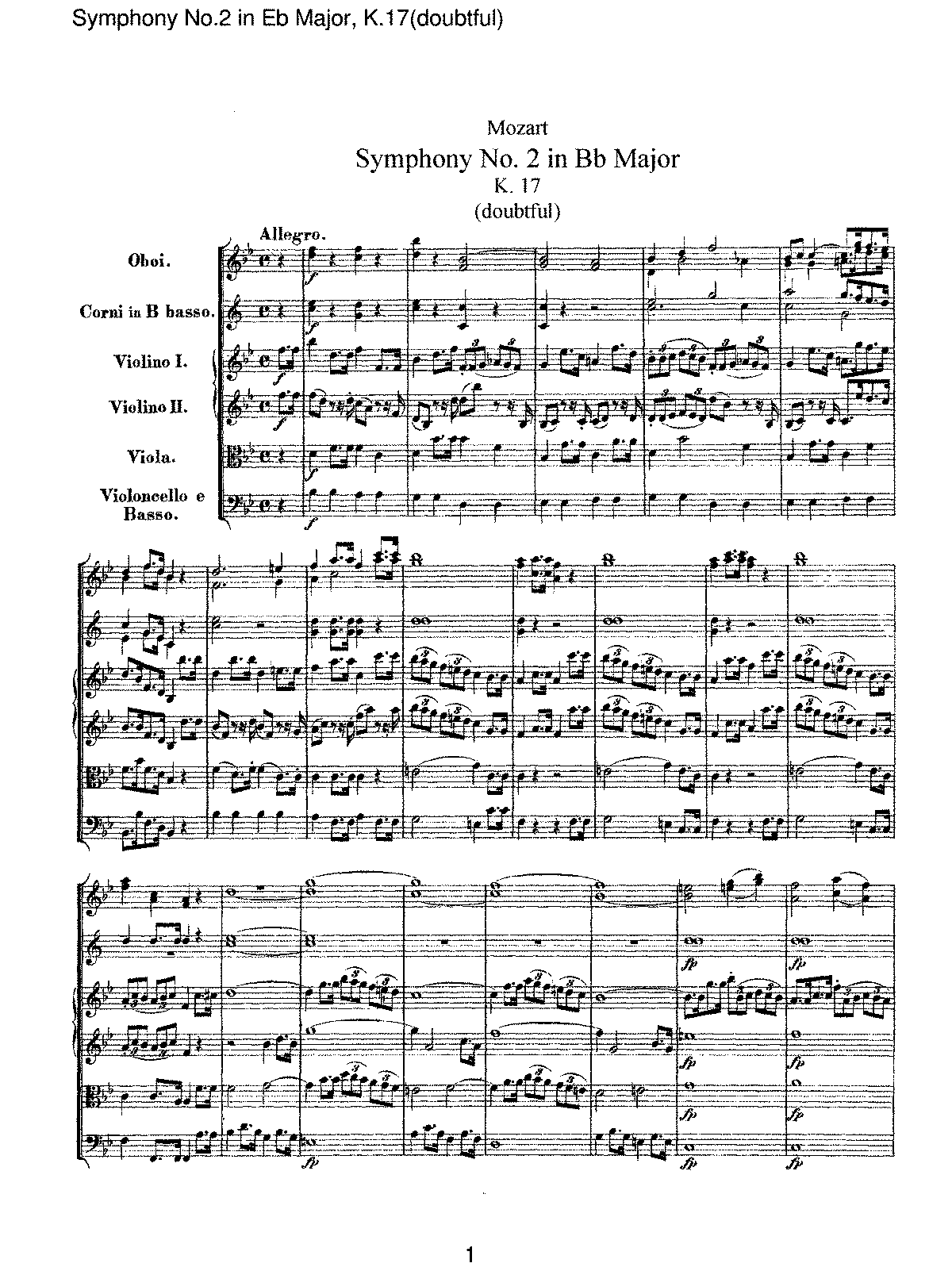 Mozart - Symphony No 02 in Bb Major (doubtful), K17.pdf