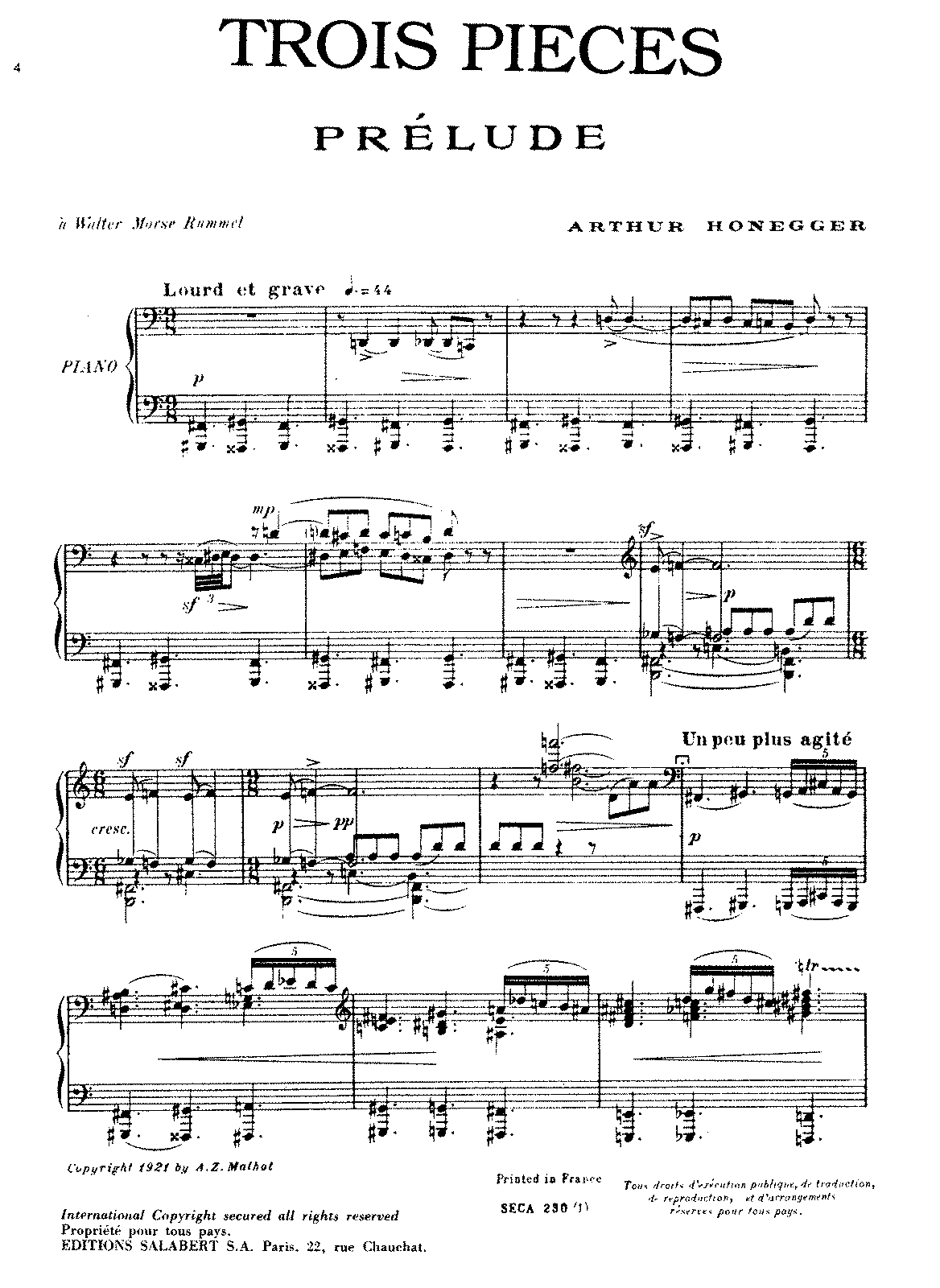 Honegger - 3 Pieces (piano).pdf