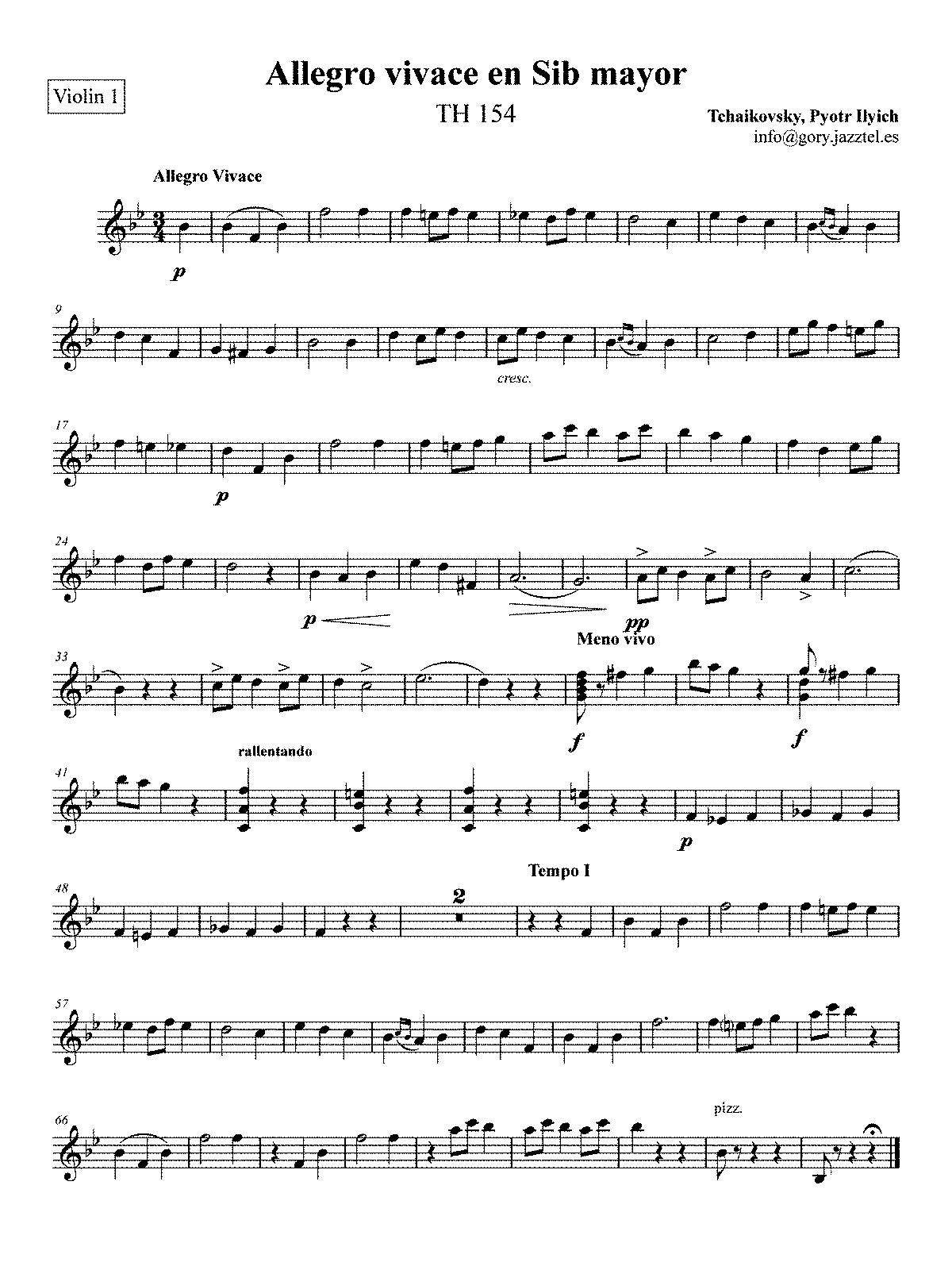 PMLP49116-Allegro vivace en Sib mayor - Violin 1.pdf