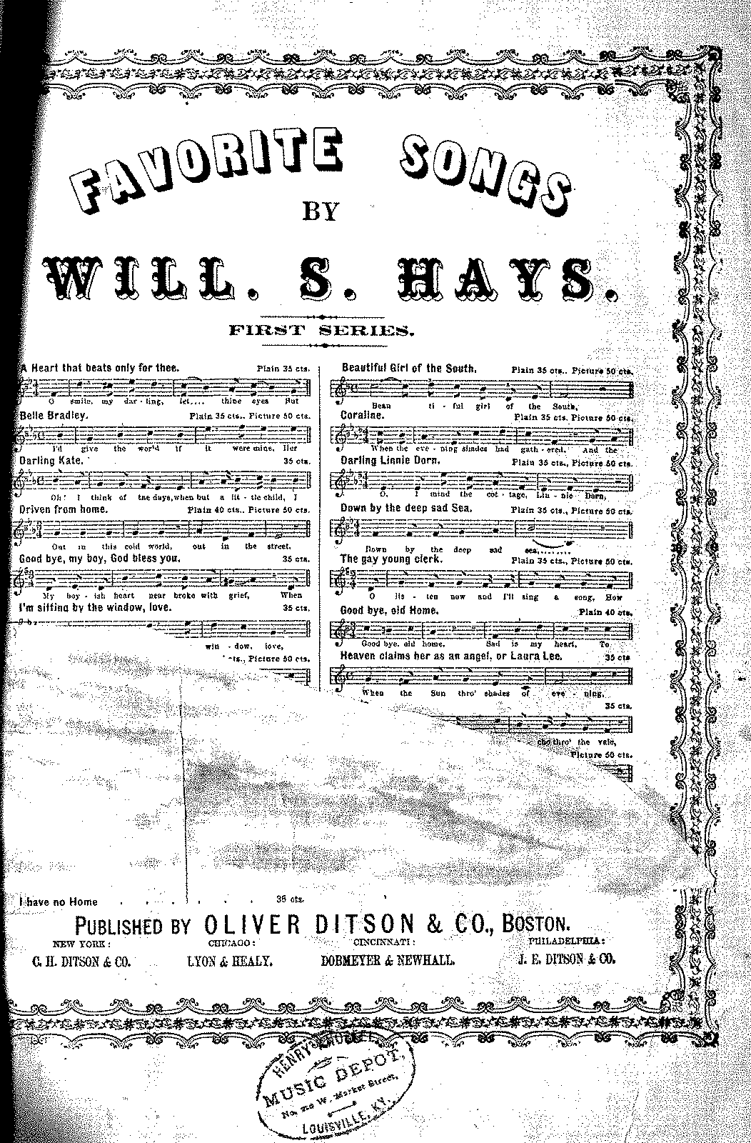 PMLP527412-V.116 P.037 - I Have No Home - Will S. Hays.pdf