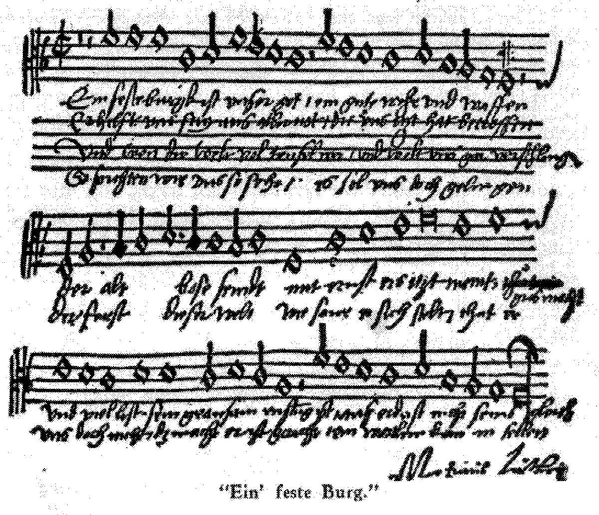 Free Sheet Music Public Domain: Ein Feste Burg Ist Unser Gott (Luther, Martin)