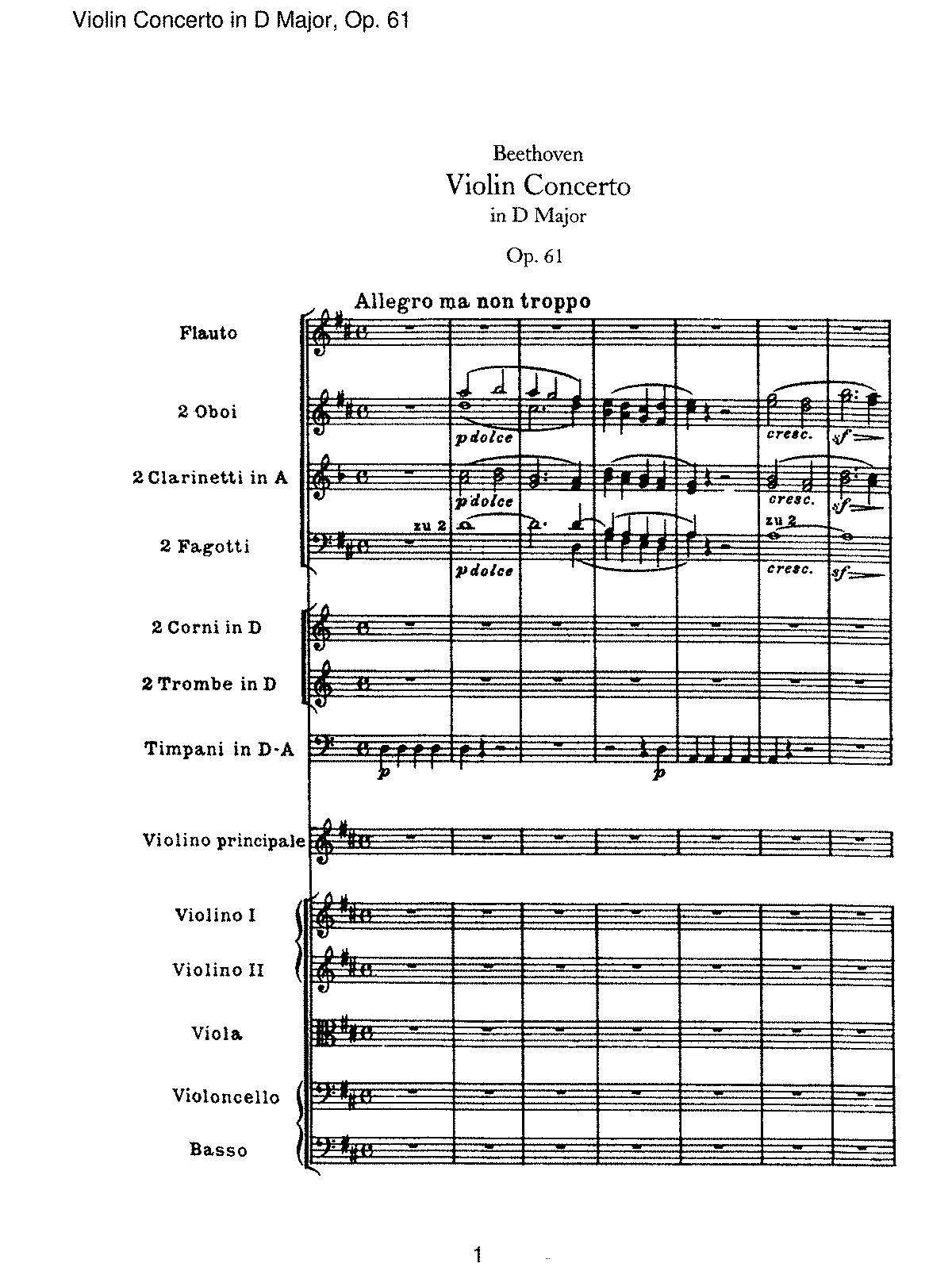 beethoven violin concerto in d major analysis