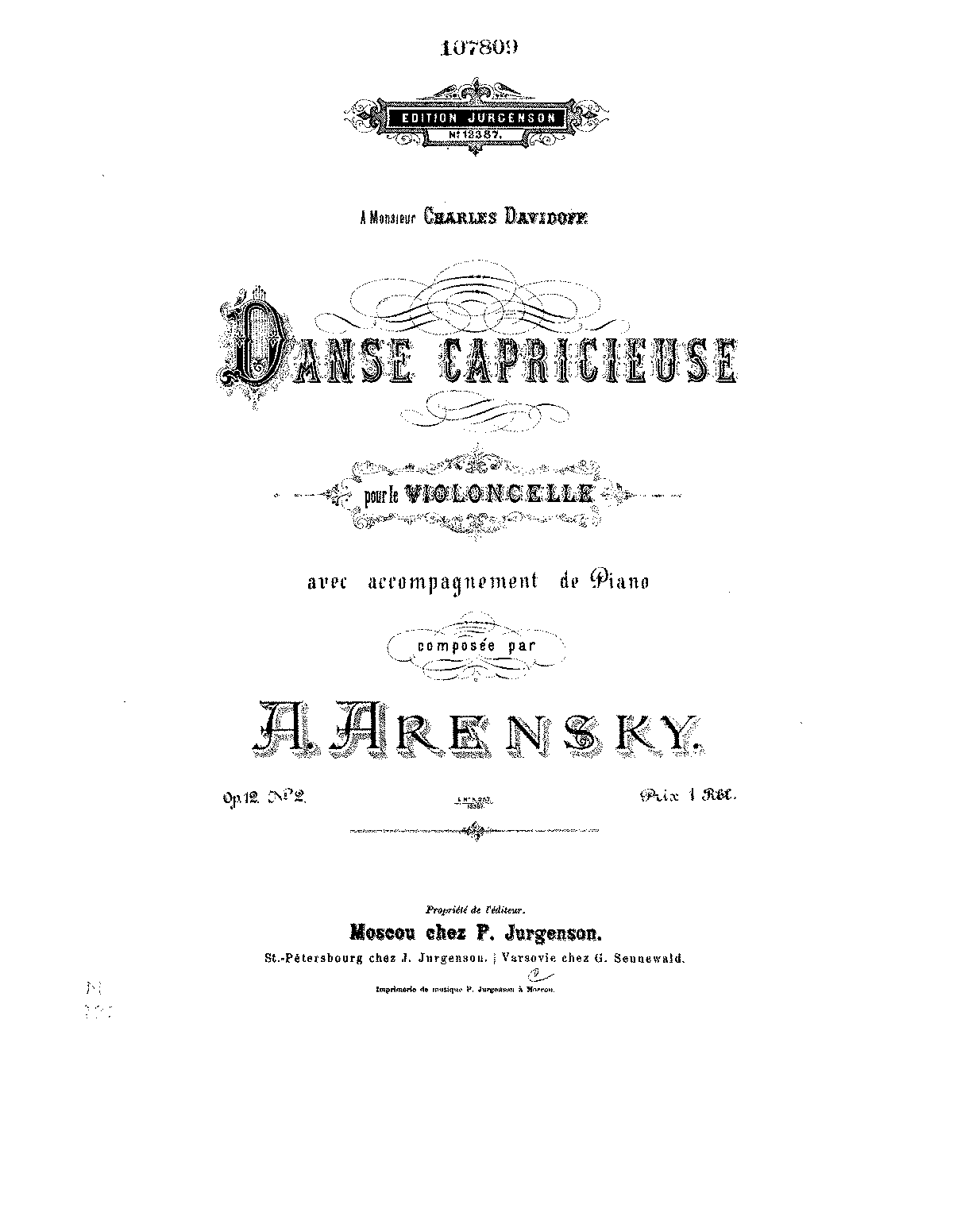 PMLP43990-Arensky - Danse Capricieuse for Cello and Piano Op12 No2 Jurgenson piano.pdf