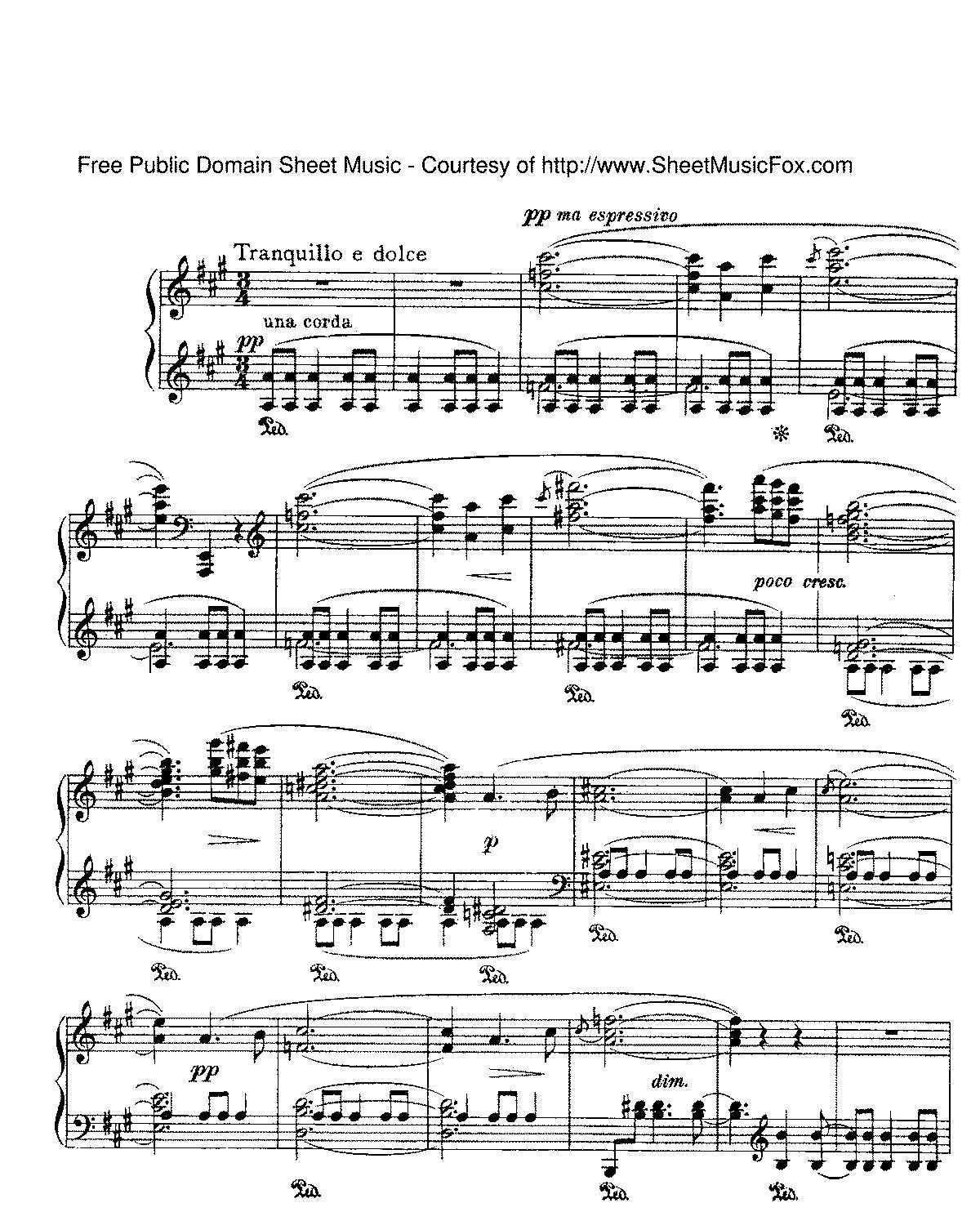 Free Sheet Music Public Domain