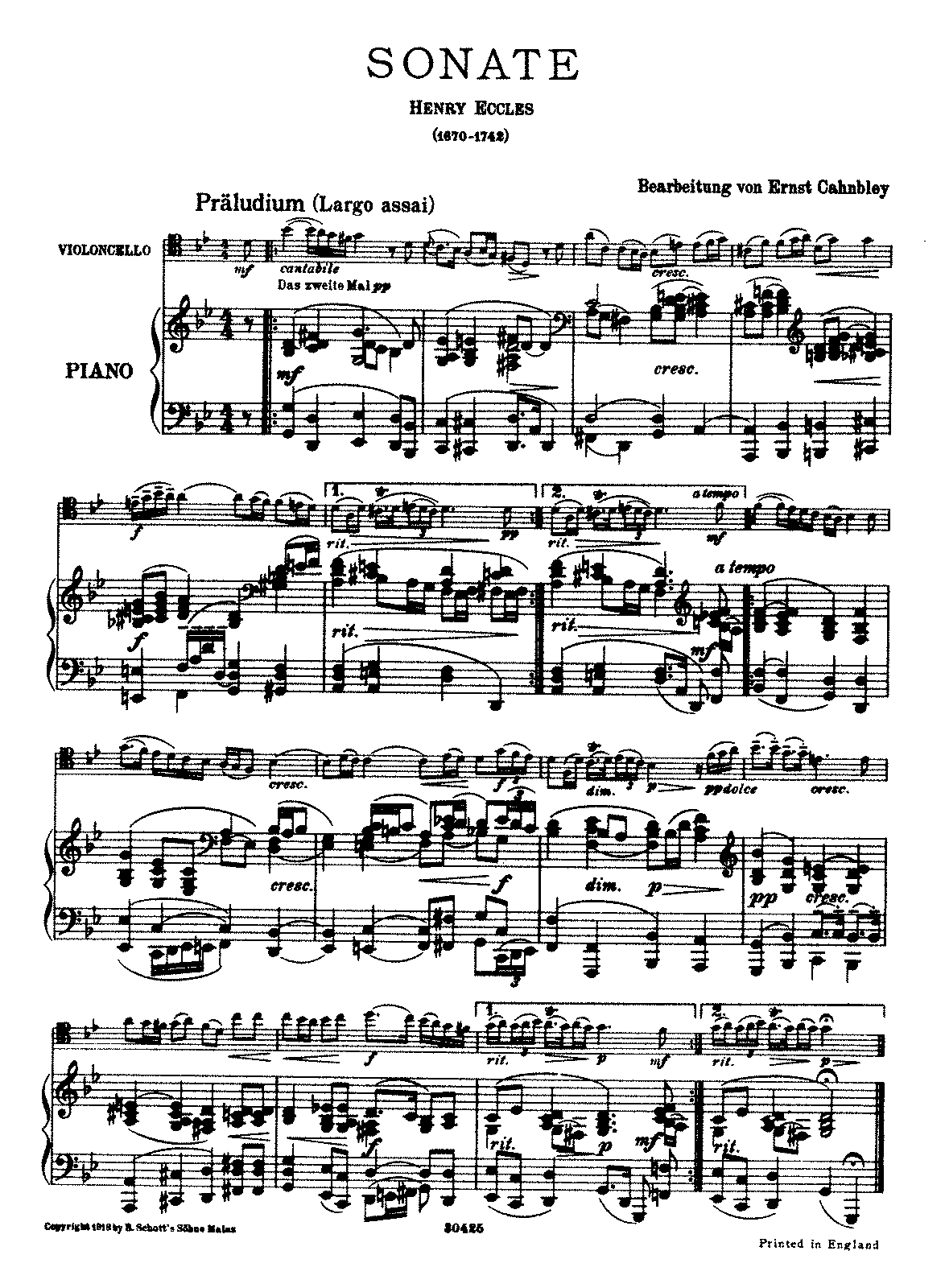 PMLP54156-Eccles - Cello Sonata (Cahnbley) for cello and piano parts.pdf