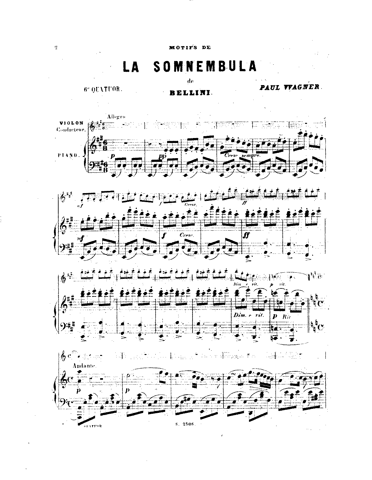 PMLP276153-Wagner, Paul - Quartet No6 Sonnambula PS Sibley.1802.16411.pdf