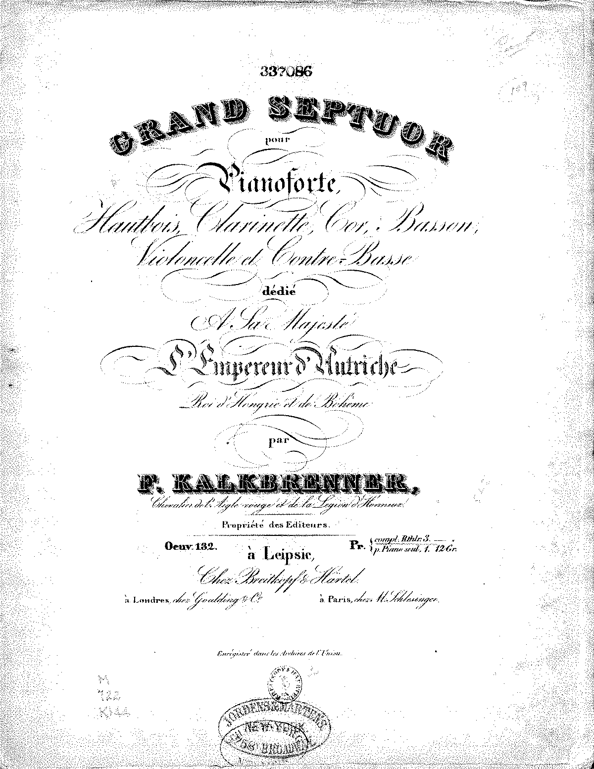Kalkbrenner - Op.132 - Septet in A Major - Piano.pdf