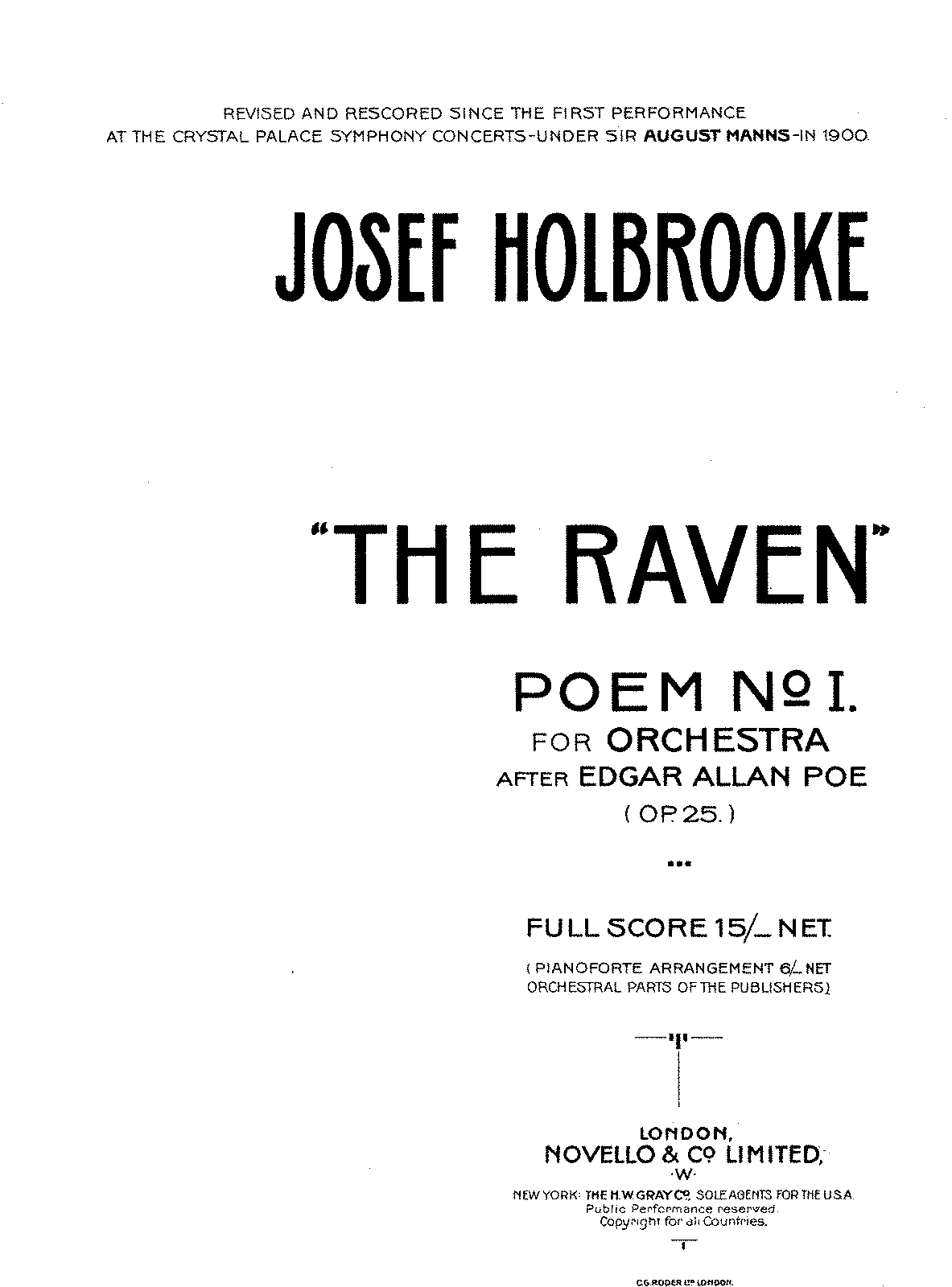 PMLP60593-Holbrooke - Poem No 1 'The Raven' for Orchestra Op 25.pdf