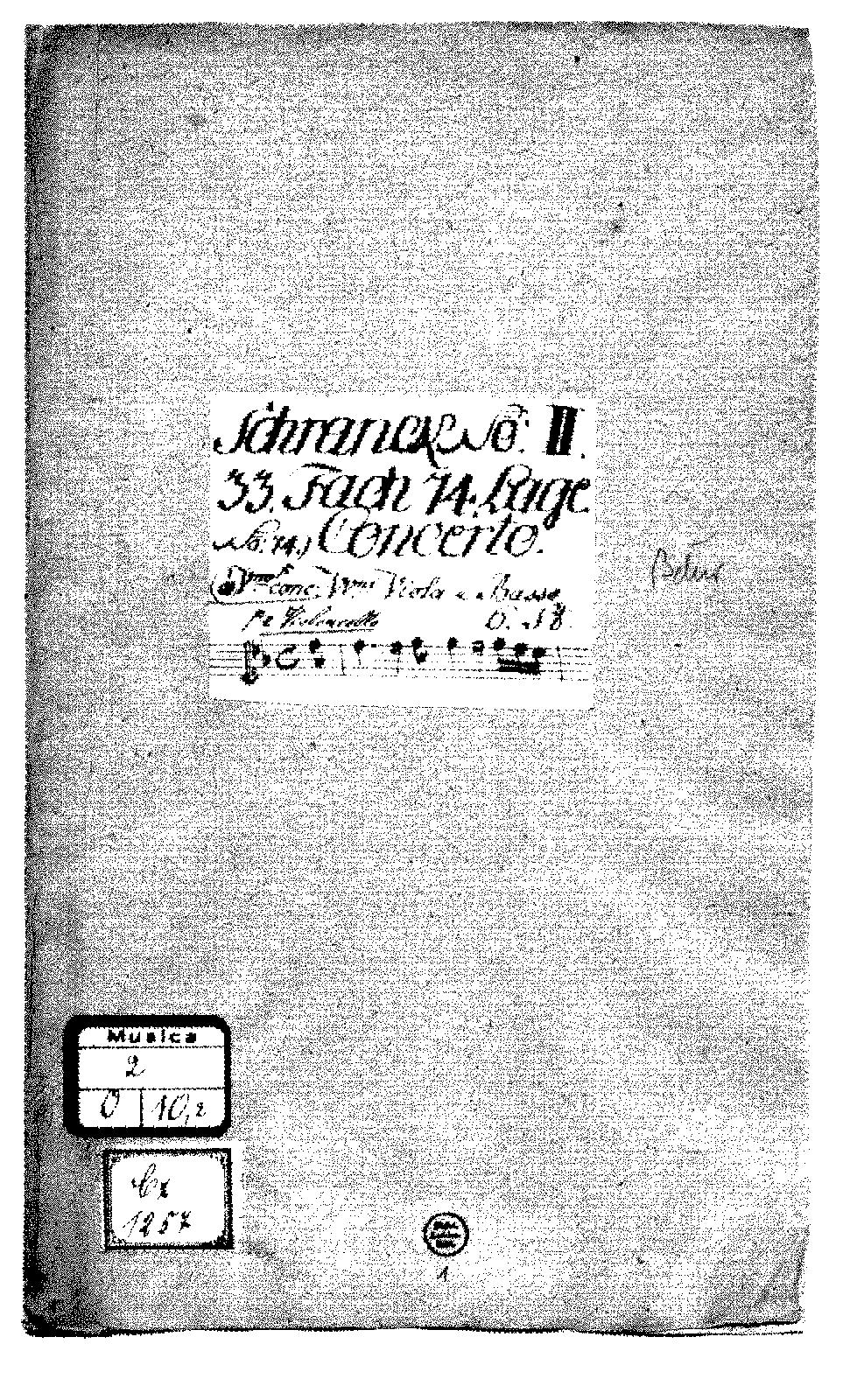 Concerto For Violin And Cello In B Flat Major Schrank II 33 74