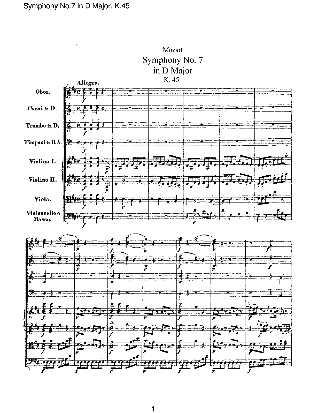 Mozart - Symphony No 07 in D Major, K45.pdf