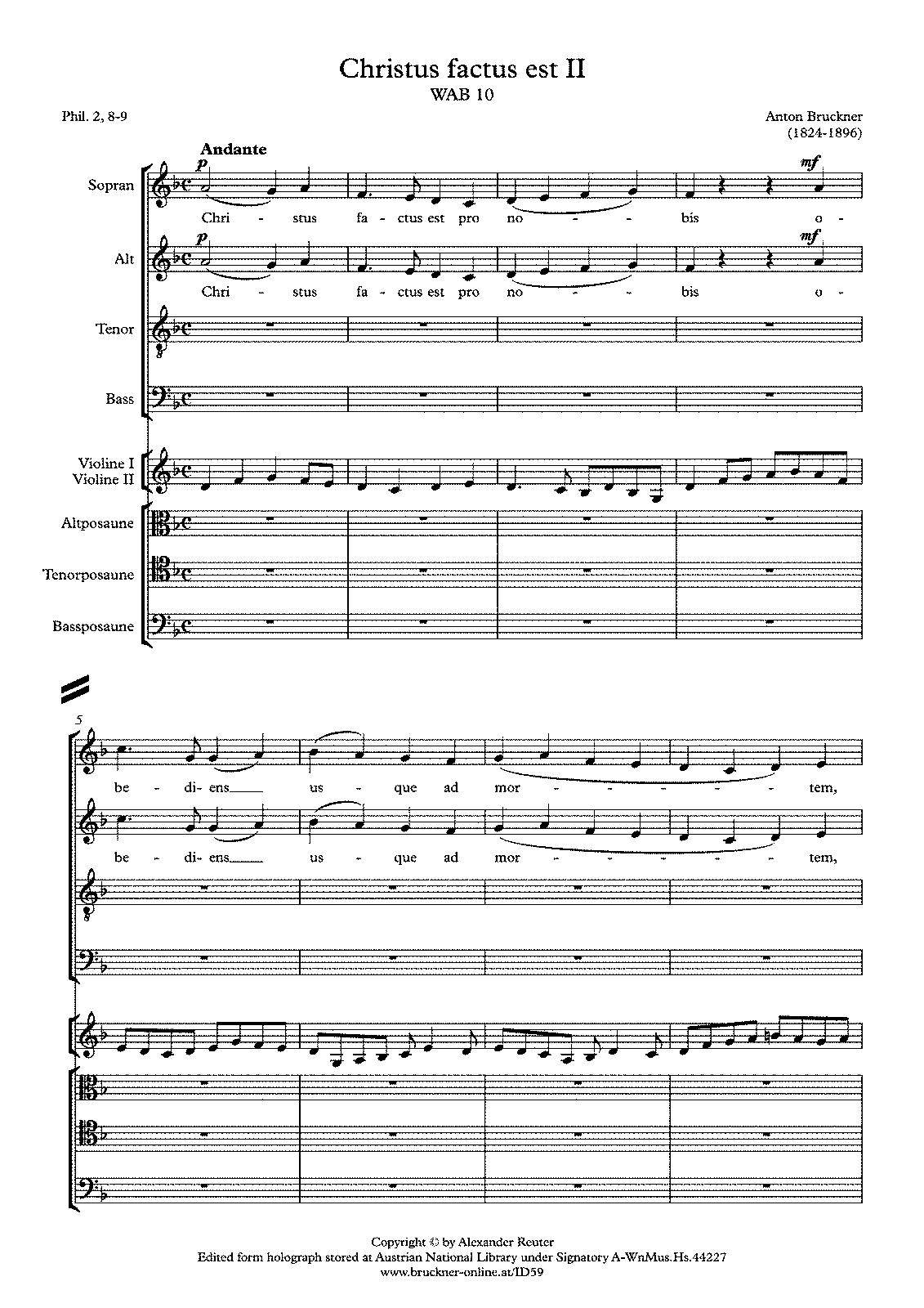 Christus factus est, WAB 10 (Bruckner, Anton) - IMSLP ...