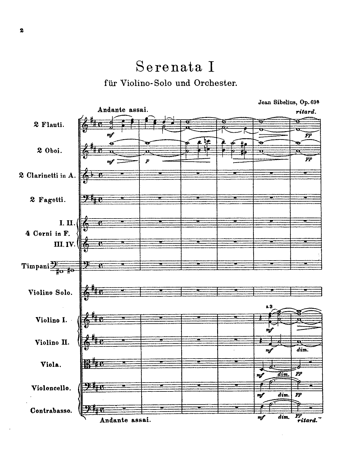 Sibelius - 2 Serenades for Violin and Orchestra, Op.69 (orch. score).pdf
