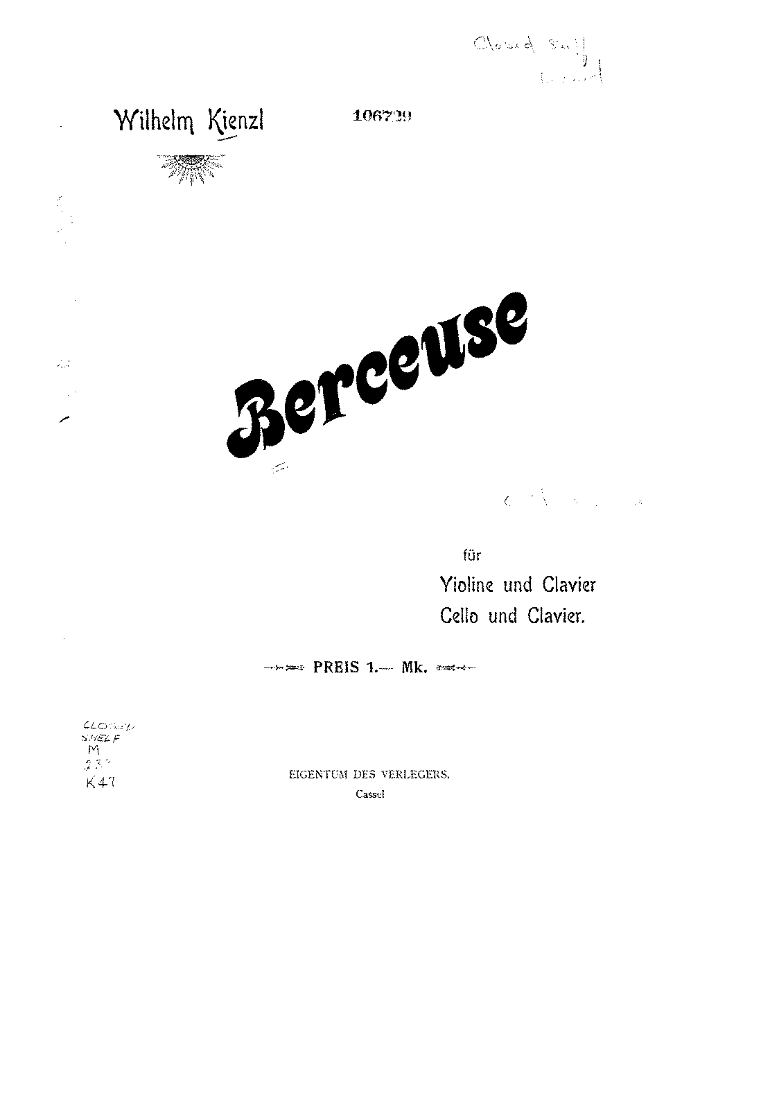PMLP137589-Kienzl - Berceuse for Cello and Piano (Schreiner) score.pdf