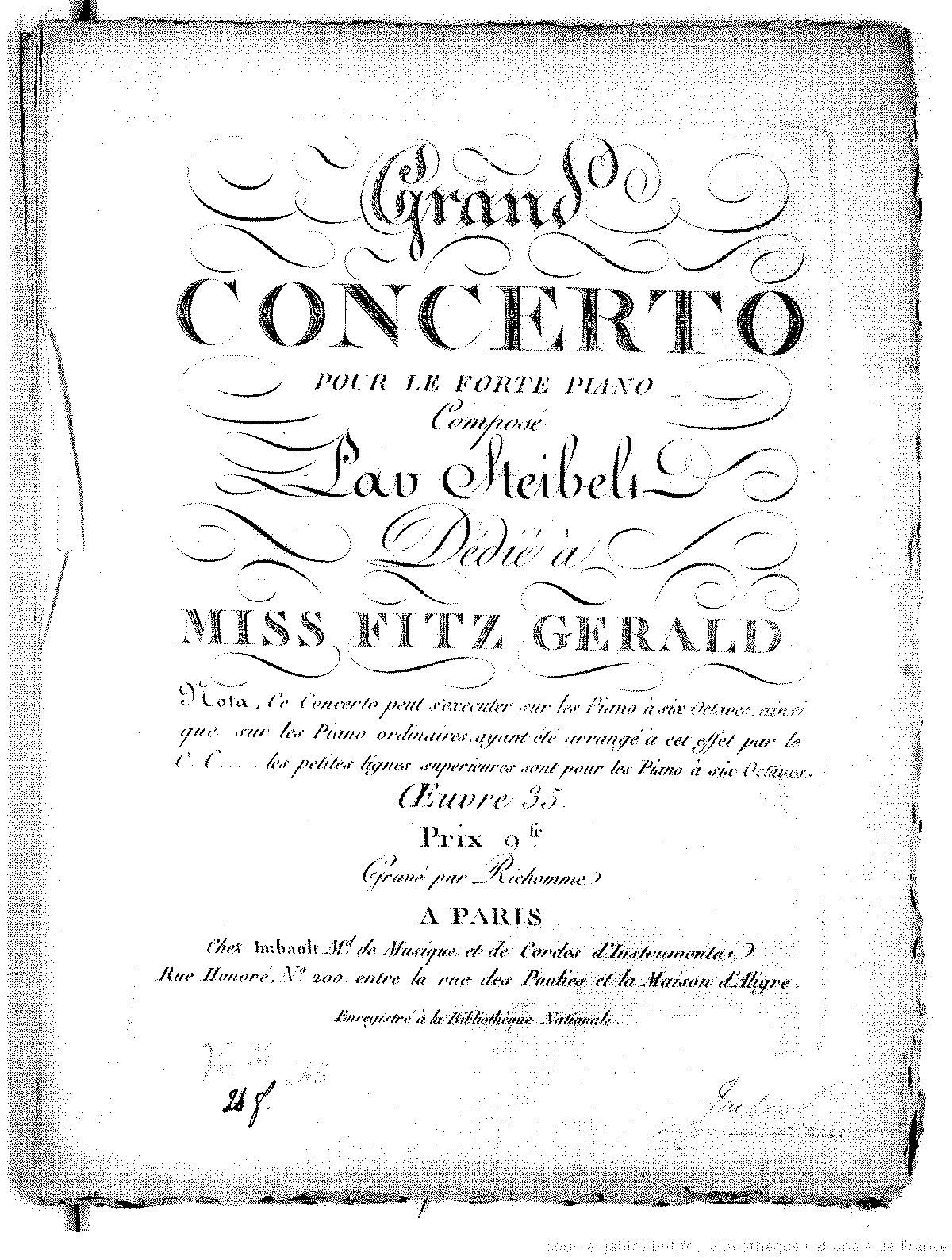 piano concerto no 3 in e major op 33 steibelt daniel imslp