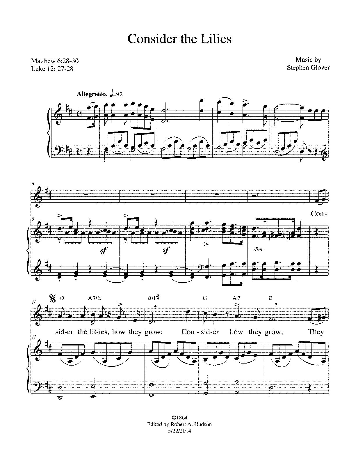 free public domain sheet music pdf