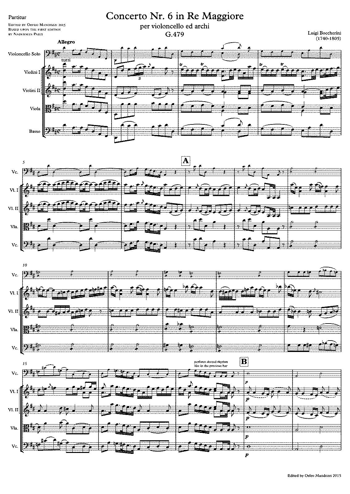 boccherini cello concertos