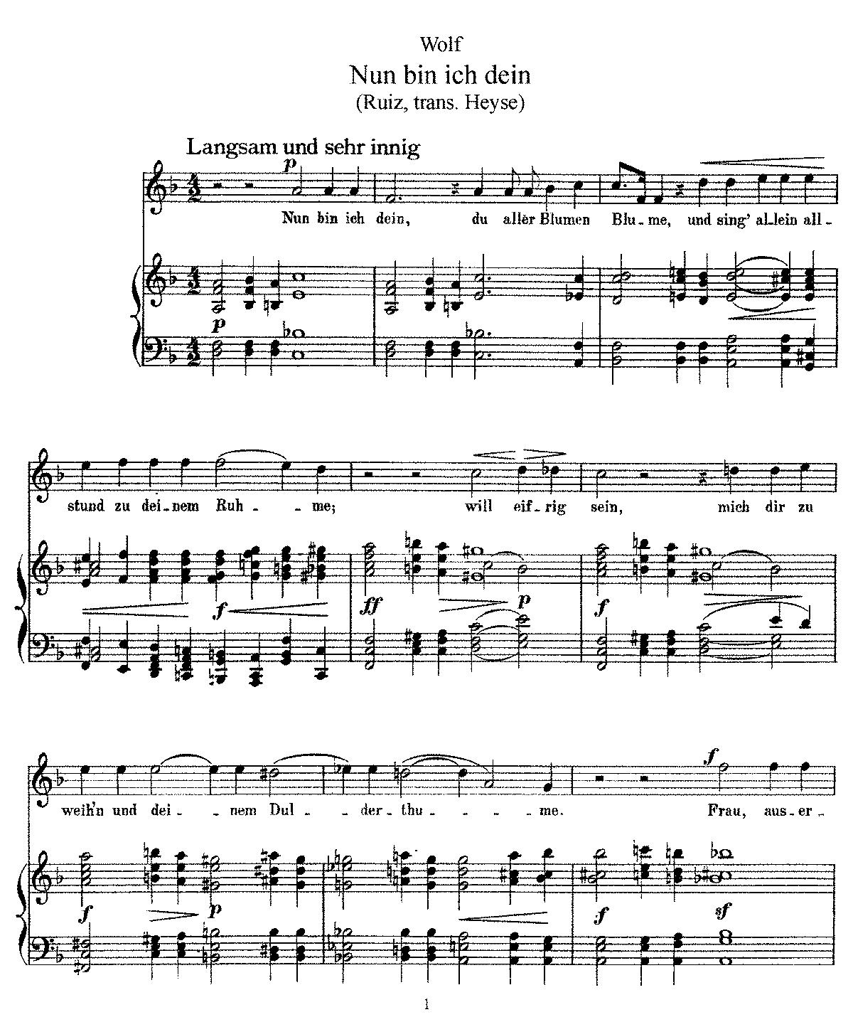 Free Sheet Music Public Domain: Spanisches Liederbuch (Wolf, Hugo)