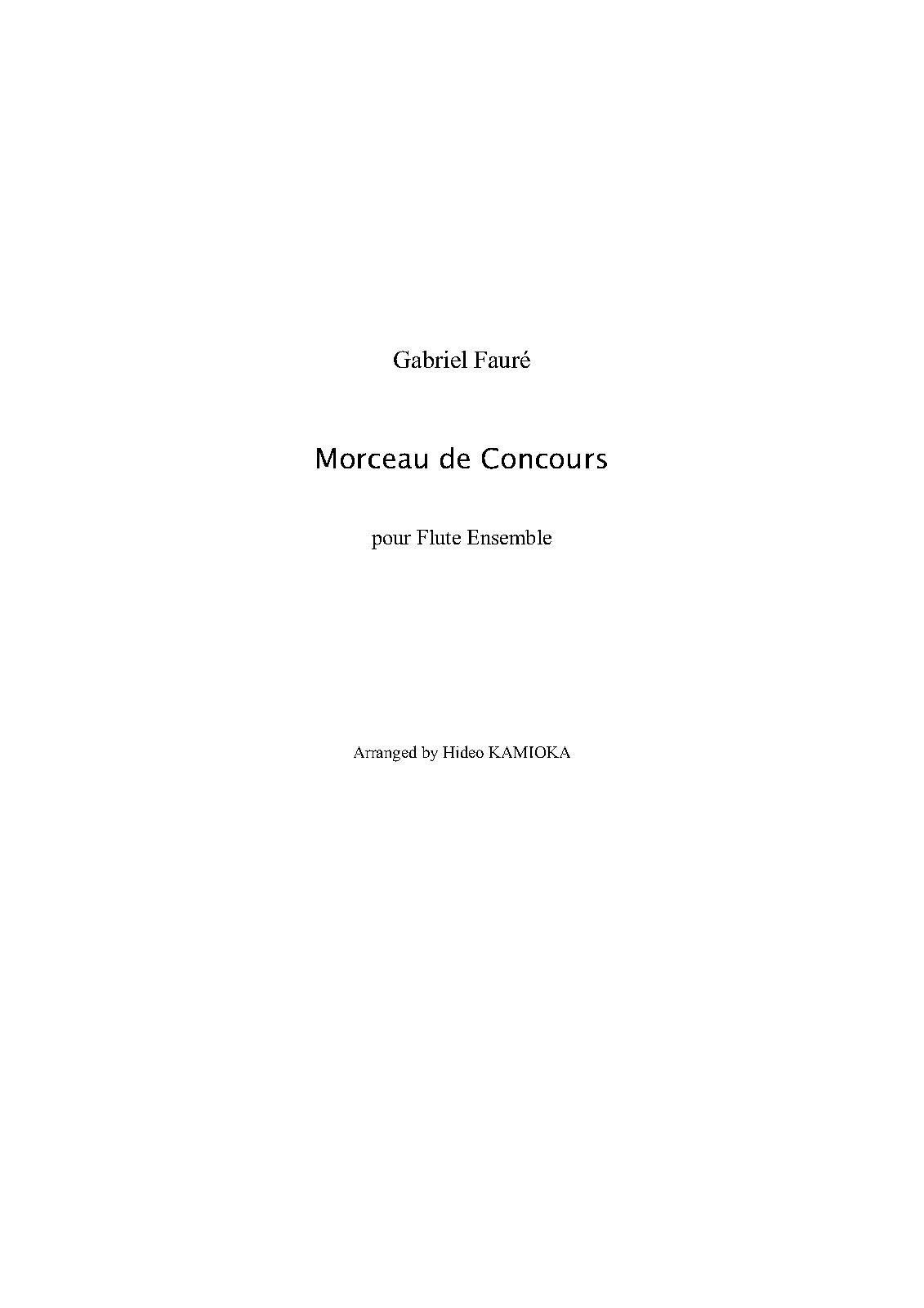 Hervorragend Morceau de concours (Fauré, Gabriel) - IMSLP/Petrucci Music  EA19