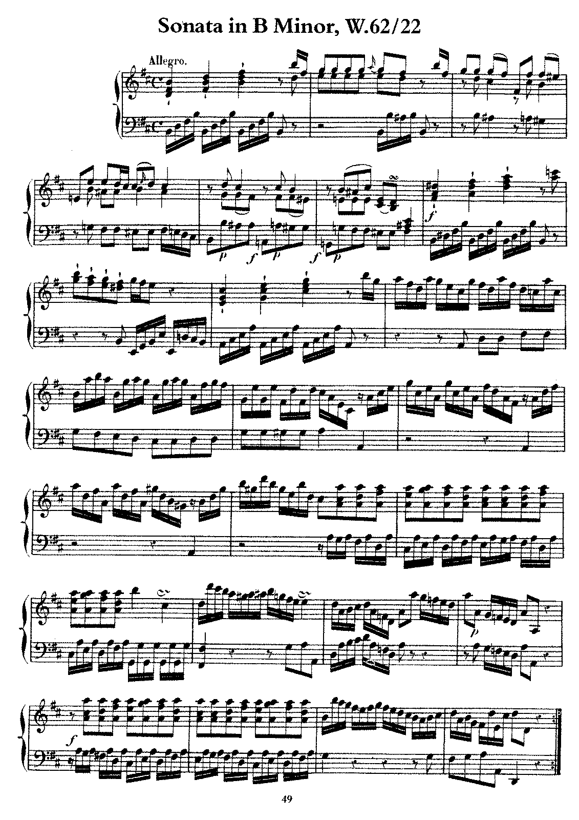 sonata in b minor pdf