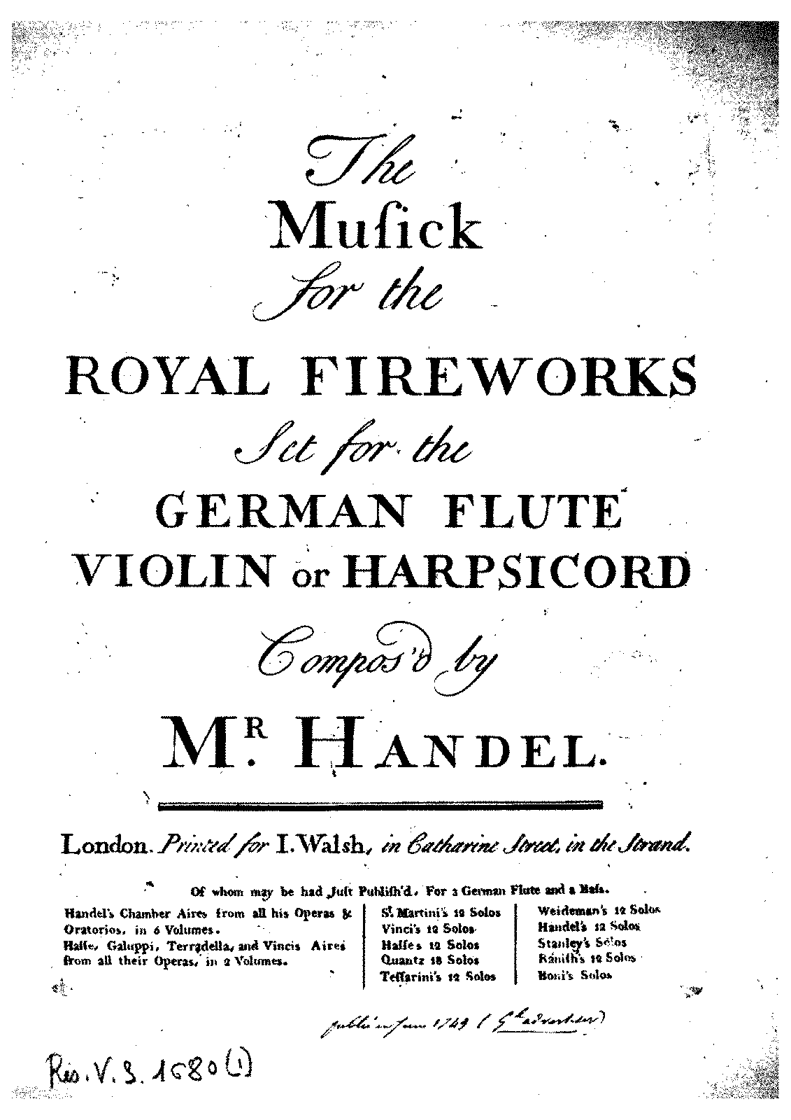 PMLP12548-The Musick for the Royal Fireworks set for the German Flute (etc).pdf