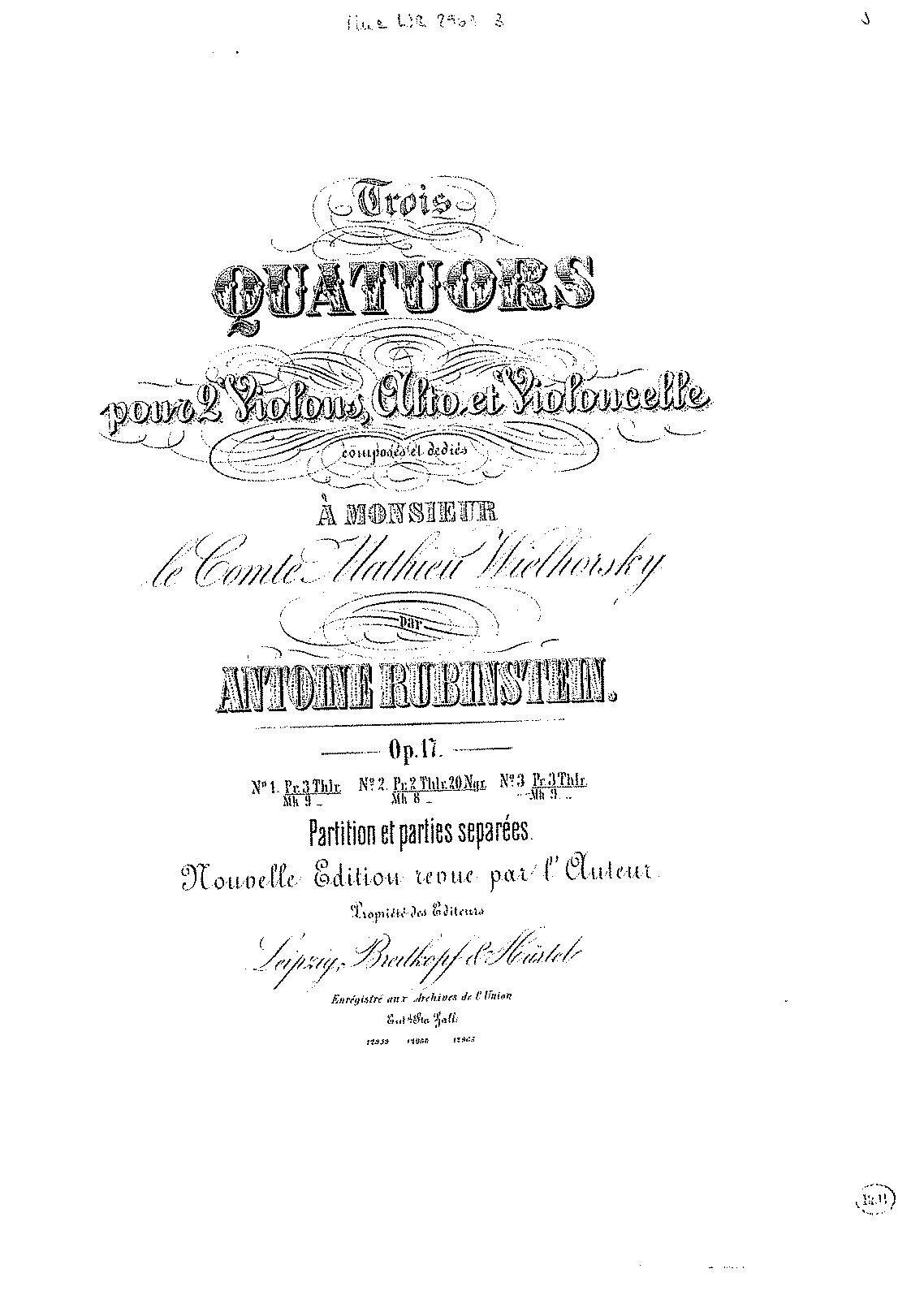 Rubinstein - Op.17 No.3 - String Quartet in F Major.pdf