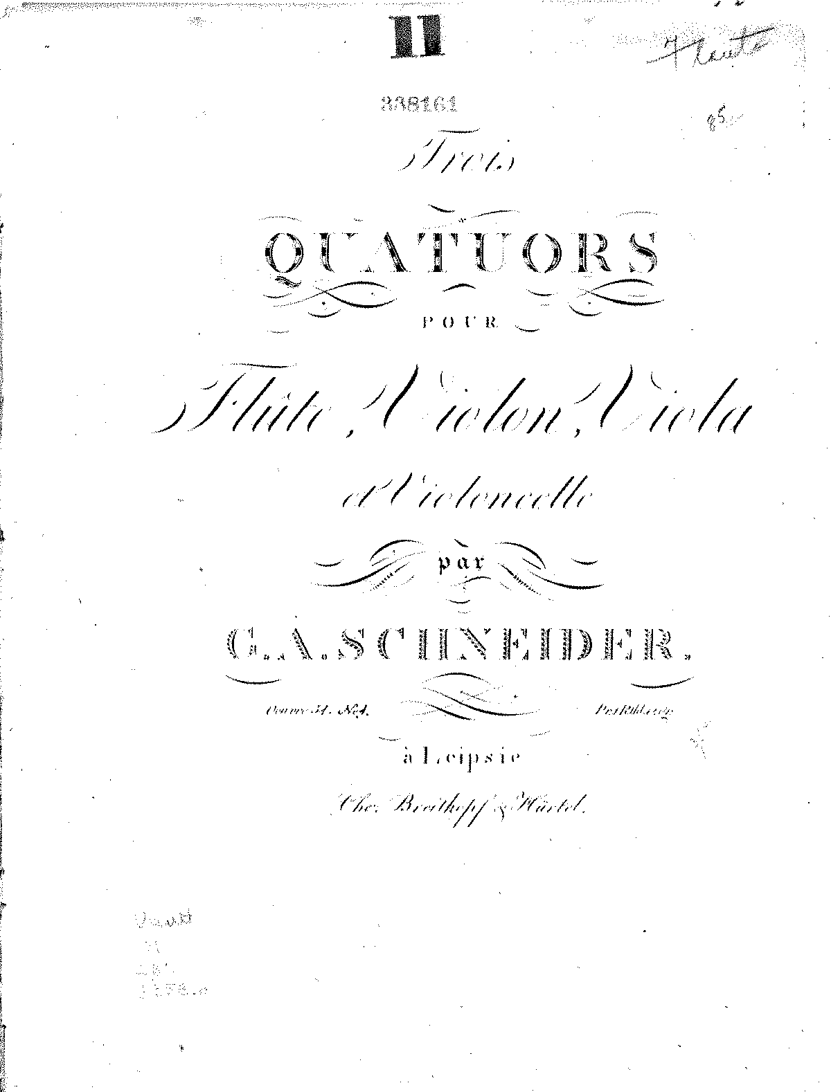PMLP90477-Schneider - Six Quartets for Flute, Violin, Viola and Cello - All Parts.pdf