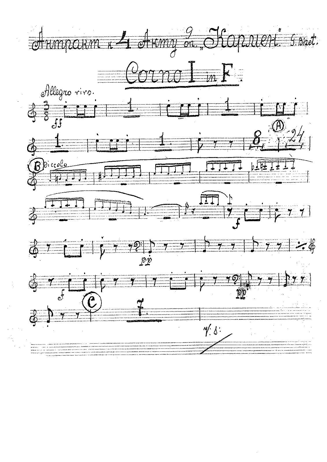 habanera carmen sheet music pdf