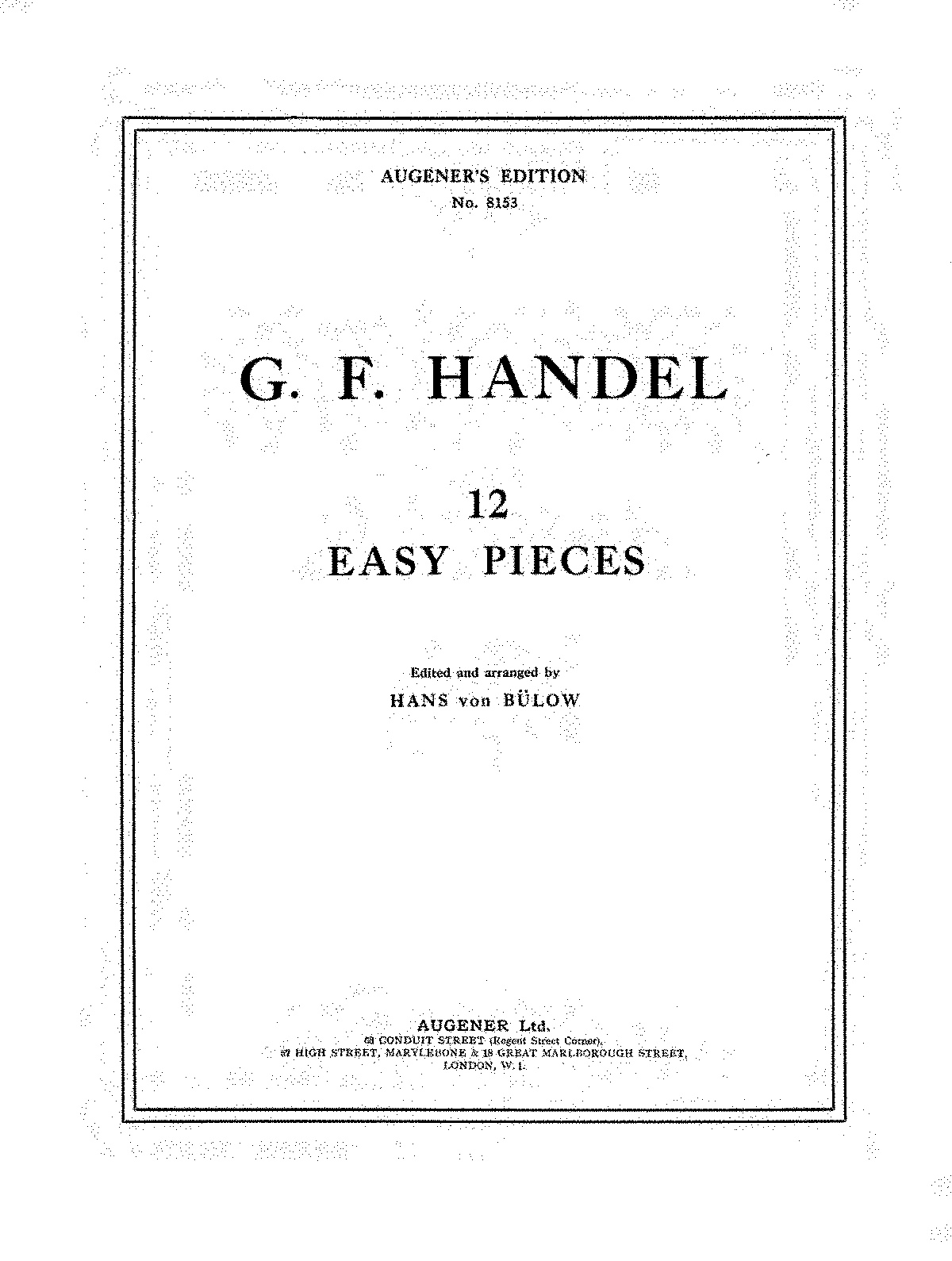 12 easy pieces handel george frideric imslppetrucci music sheet music xflitez Image collections