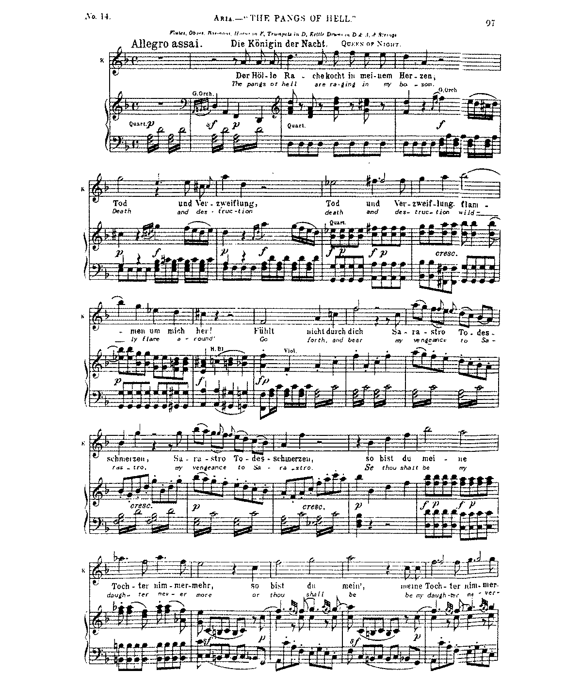 Free Sheet Music Public Domain: Die Zauberflöte, K.620 (Mozart, Wolfgang Amadeus)