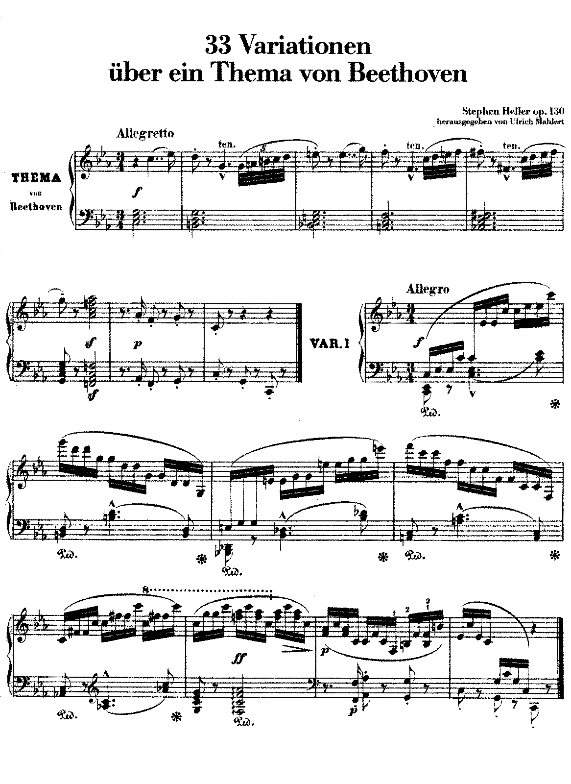Heller - Op.130 -33 Variations on a Theme of Beethoven.pdf