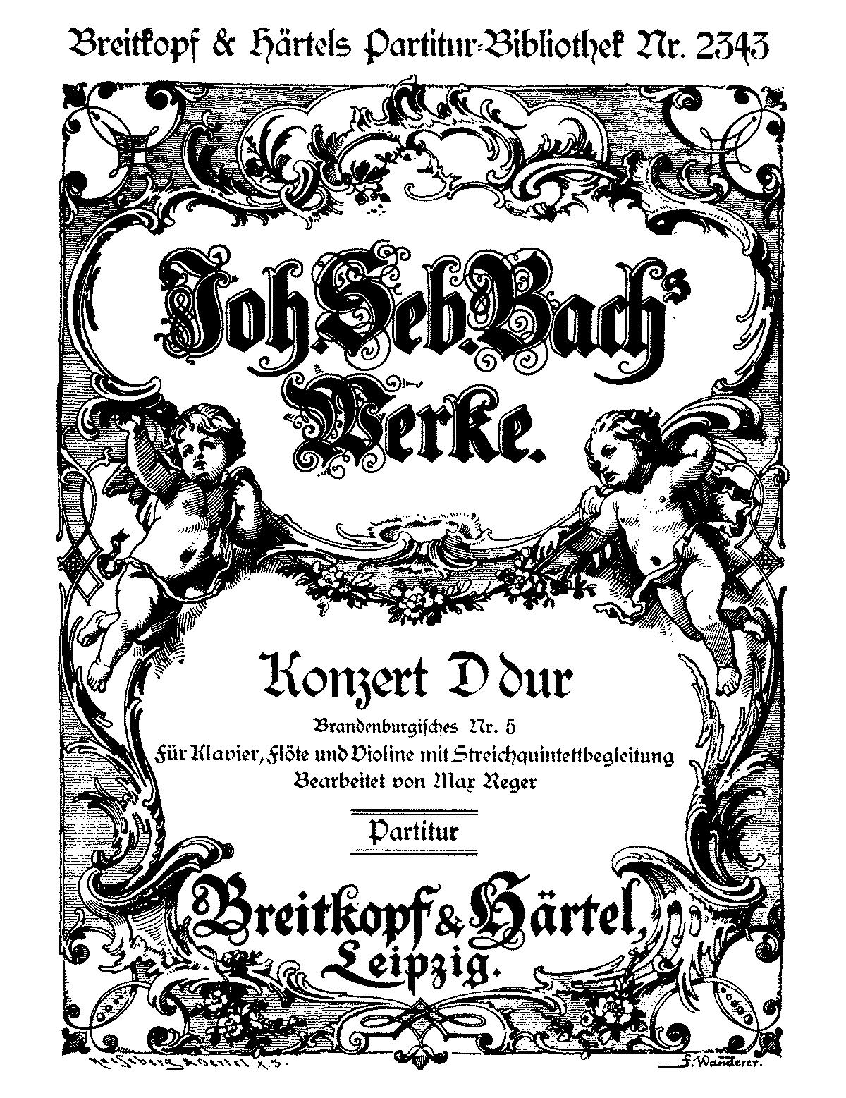 brandenburg concerto no. 5 in d major analysis Johann sebastian bach - brandenburg concerto no 5 in d major 3320 eur - see more - buy online pre-shipment lead time: on order format : sheet music + cd.