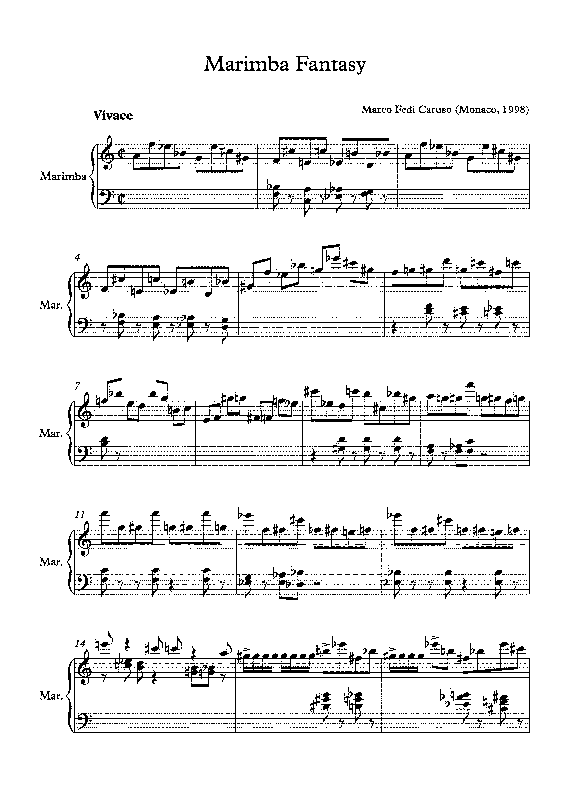 caruso free sheet music pdf