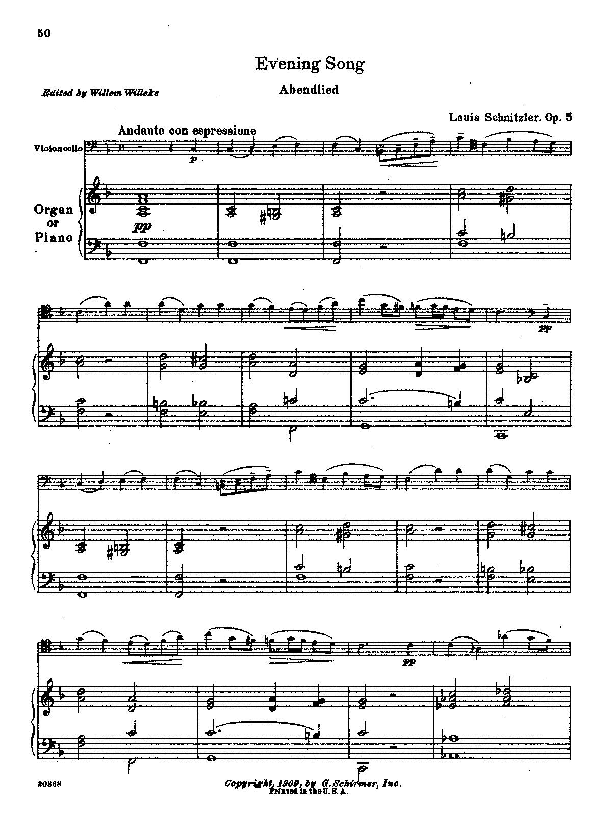 PMLP236814-Schnitzler - Evening Song Abendlied Op5 (Willeke) for cello and piano.pdf