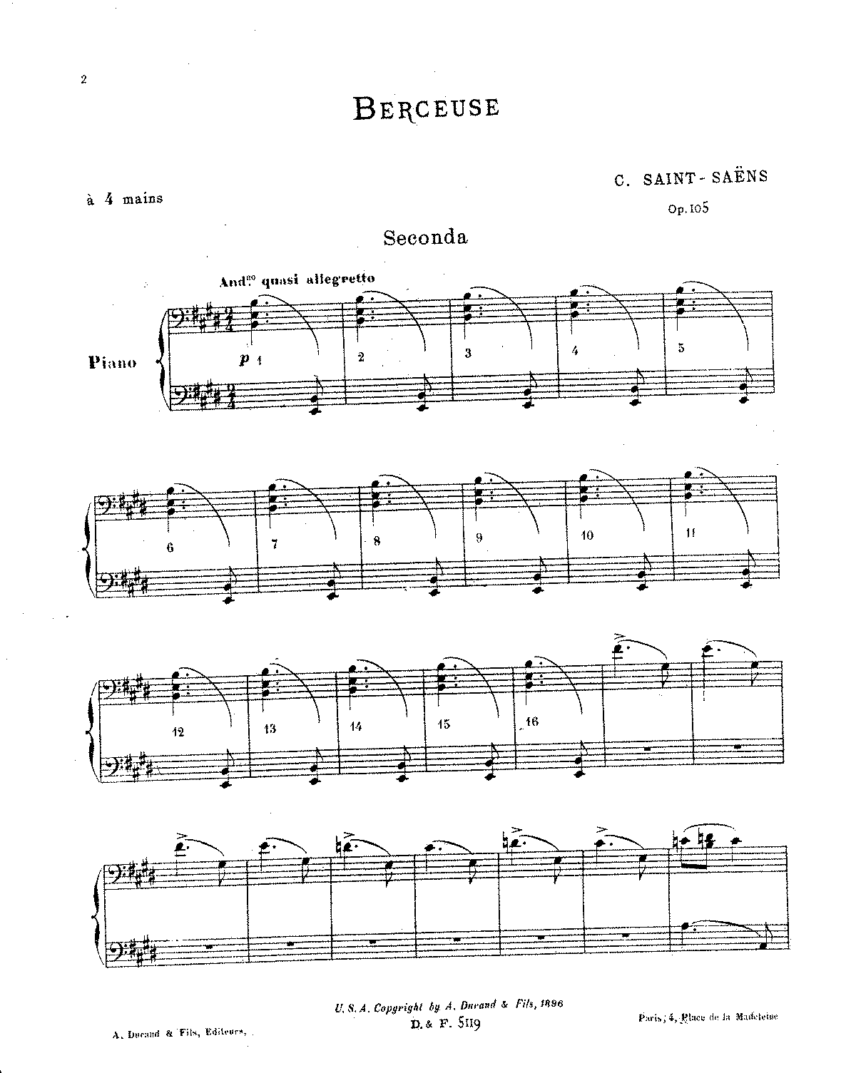 Saint-Saens - Berceuse, Op.105 (piano 4 hands).pdf