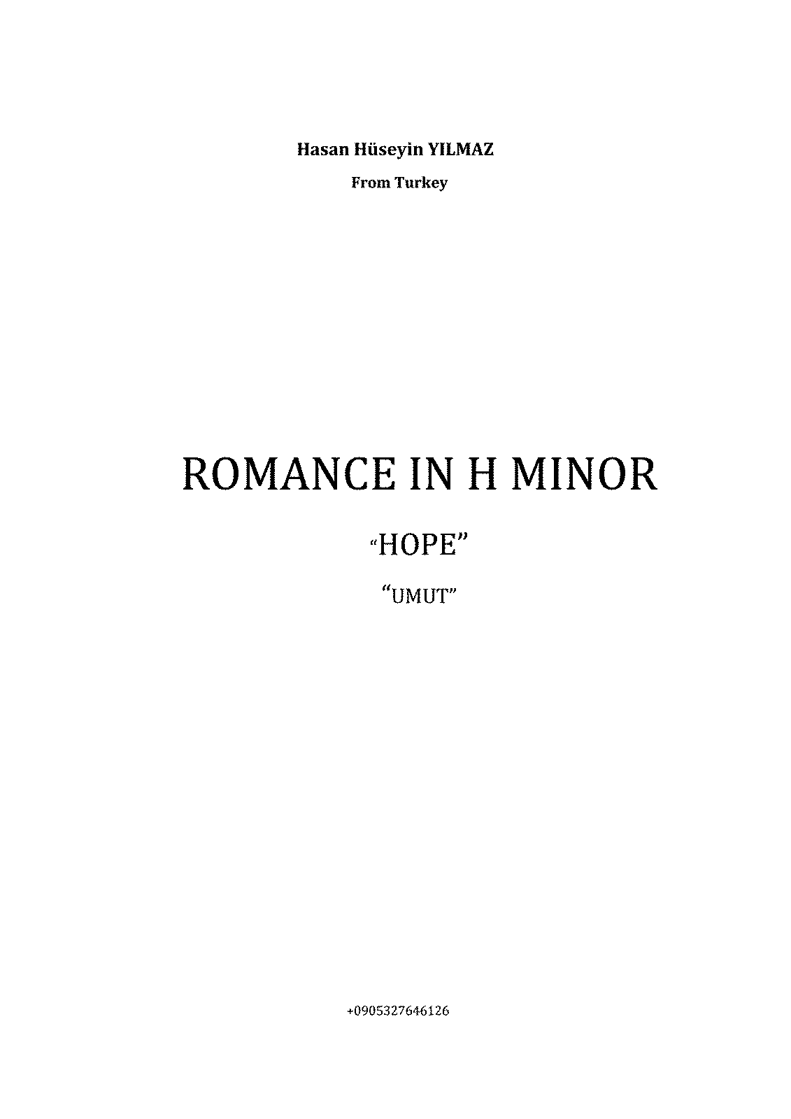 PMLP538862-Romance h-moll for Violin and Orchestra. Composed by Hasan Hüseyin YILMAZ.pdf