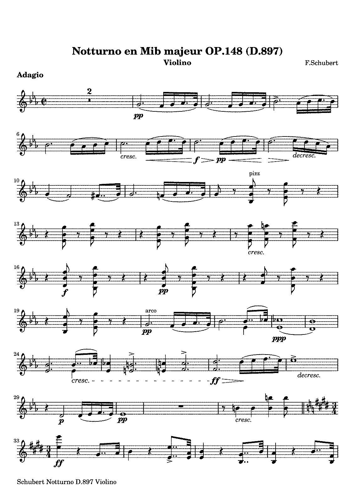 Piano trio in e flat major d897 schubert franz imslp sheet music hexwebz Images