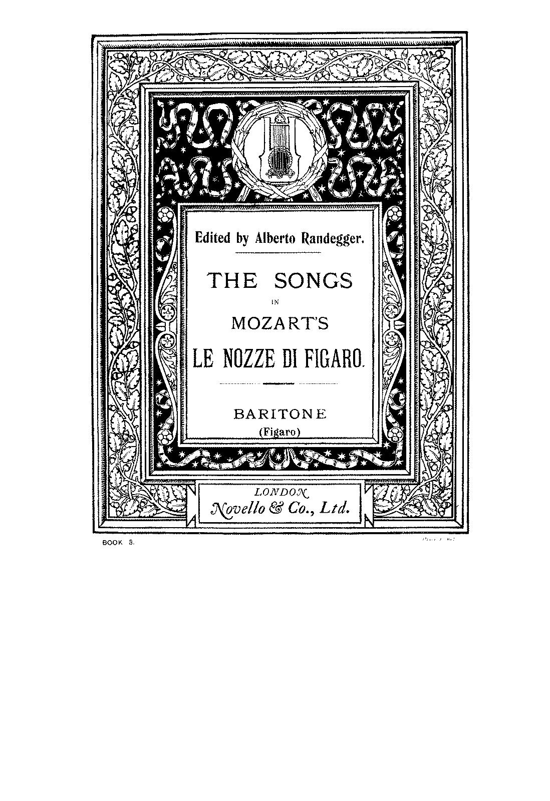 le nozze di figaro vocal score pdf