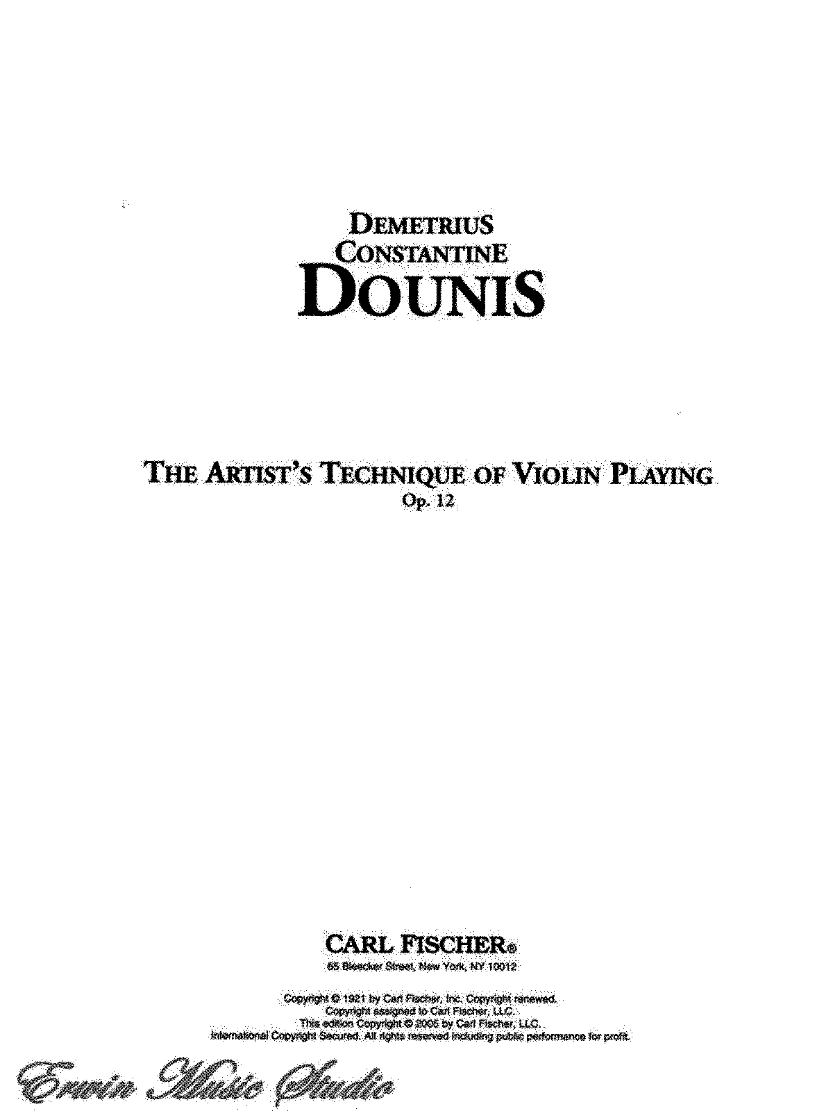 PMLP434991-D.C. Dounis - The artist's technique of violin playing - Op. 12.pdf