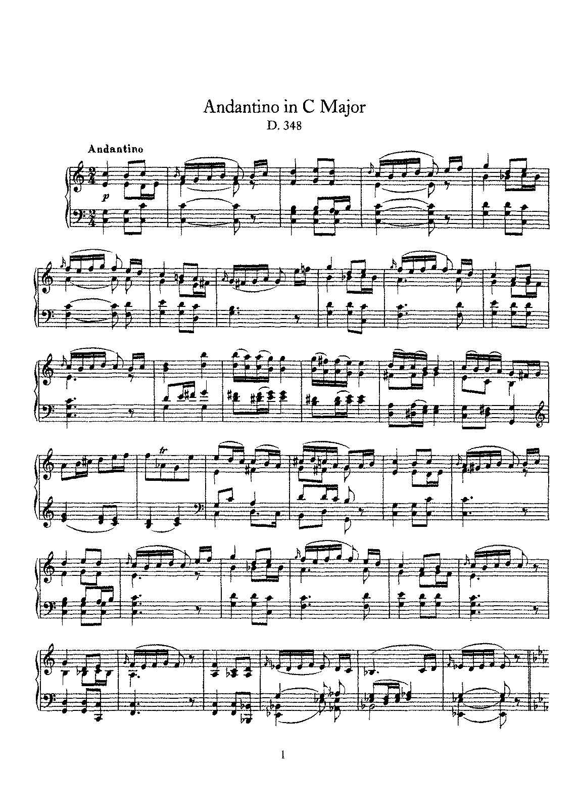 Schubert - D.348 - Andantino in C Major.pdf