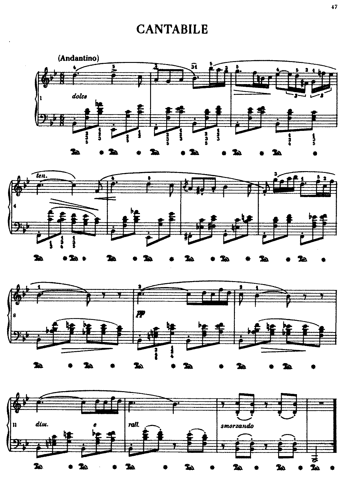 Cantabile in b flat major b84 chopin frdric imslp complete hexwebz Image collections