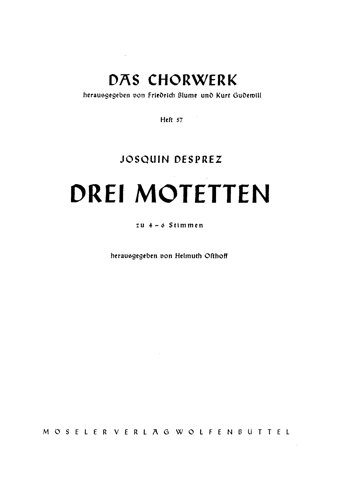 3 Motets (Josquin Desprez) - IMSLP/Petrucci Music Library: Free ...