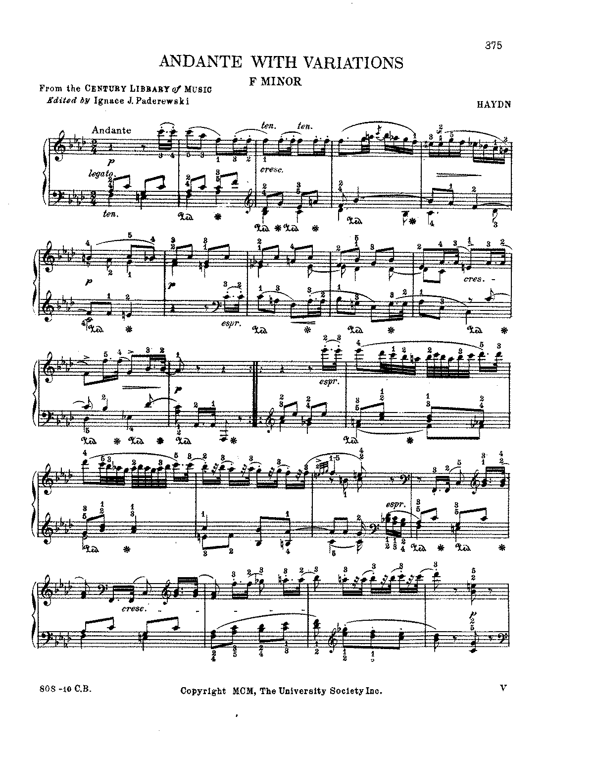 Haydn - Andante with Variations in f.pdf