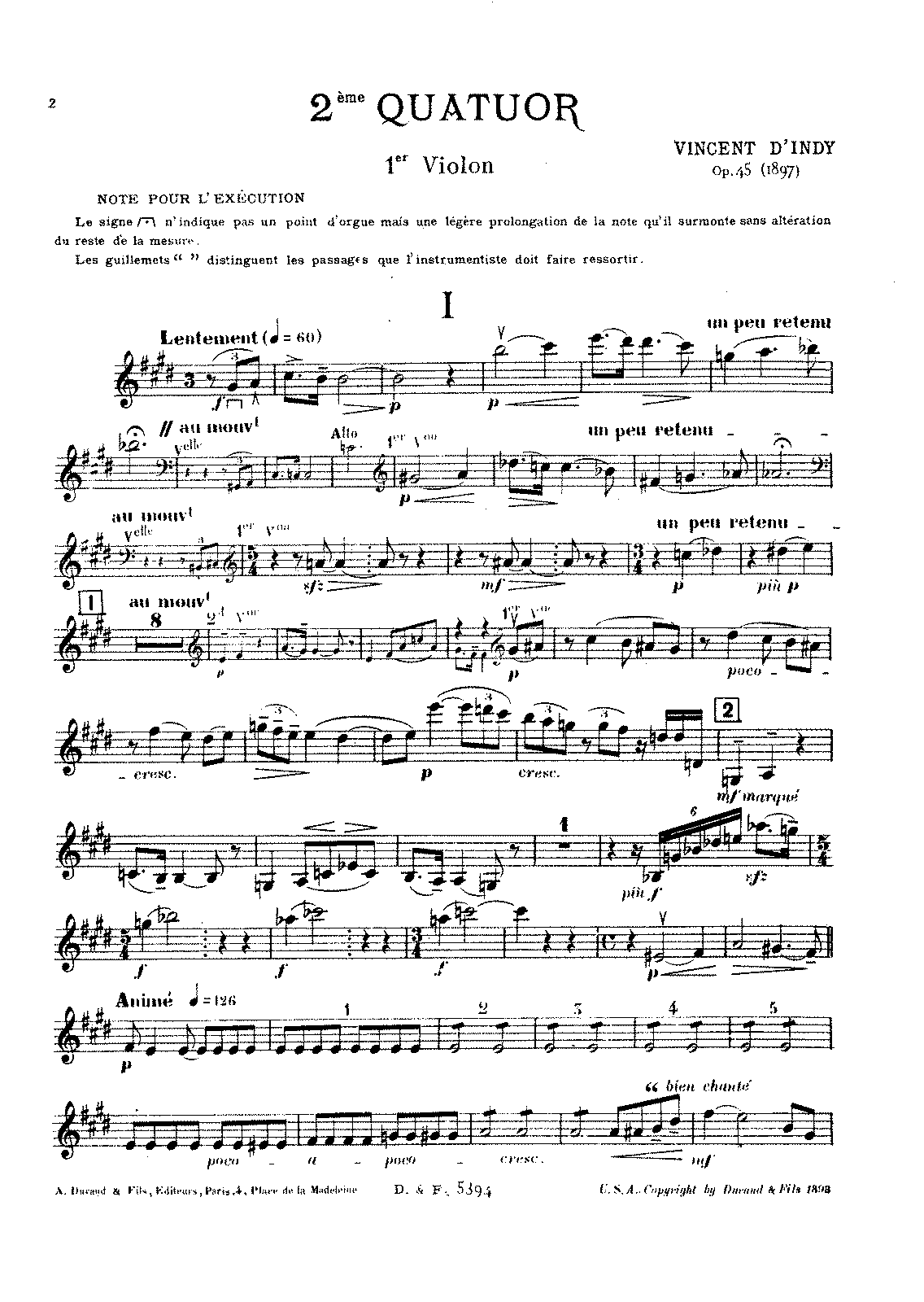 D'Indy - String Quartet No. 2, Op. 45 (parts).pdf