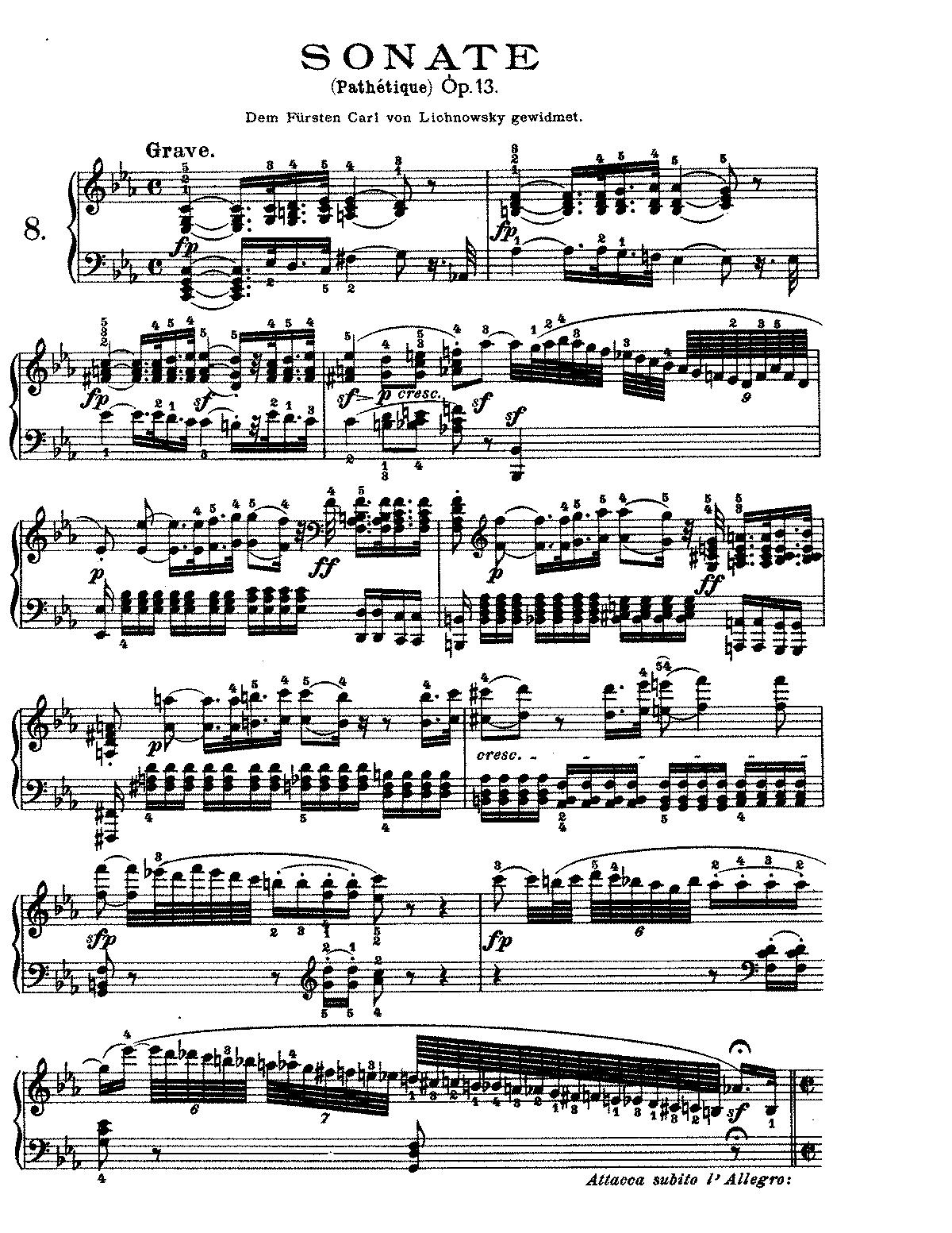 beethoven pathetique 2nd movement sheet music
