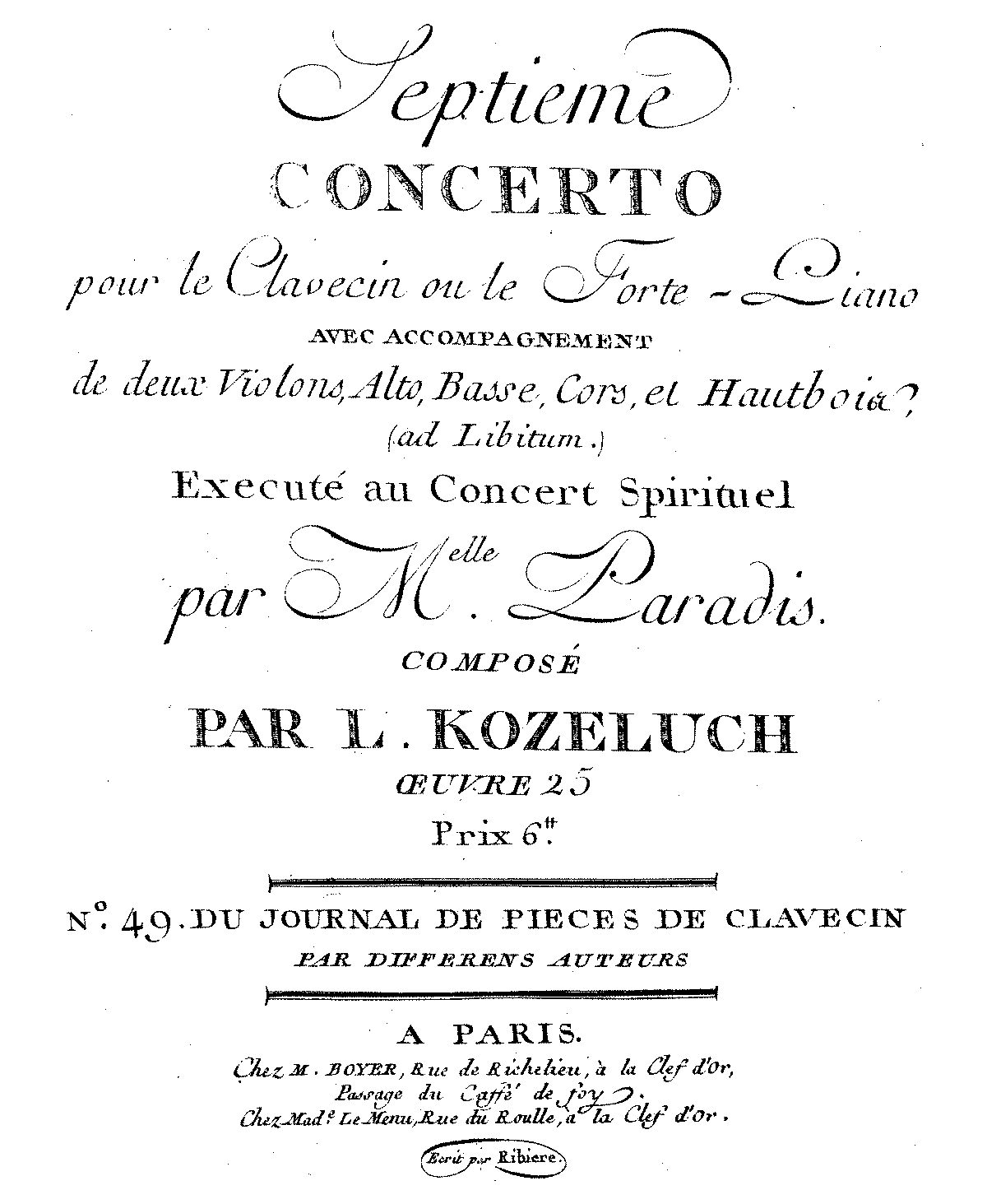 PMLP523333-LKozeluch Keyboard Concerto in D major, PIV7 orchparts Boyer.pdf