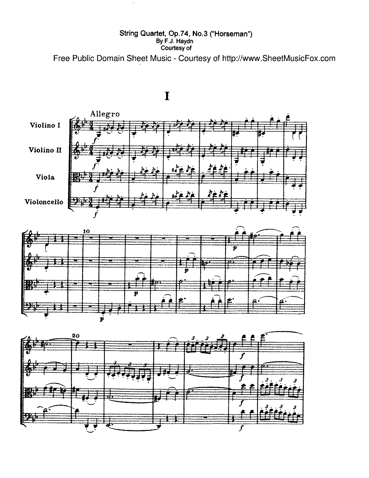 Haydn - String Quartet Op.74 No.3 - I. Allegro.pdf
