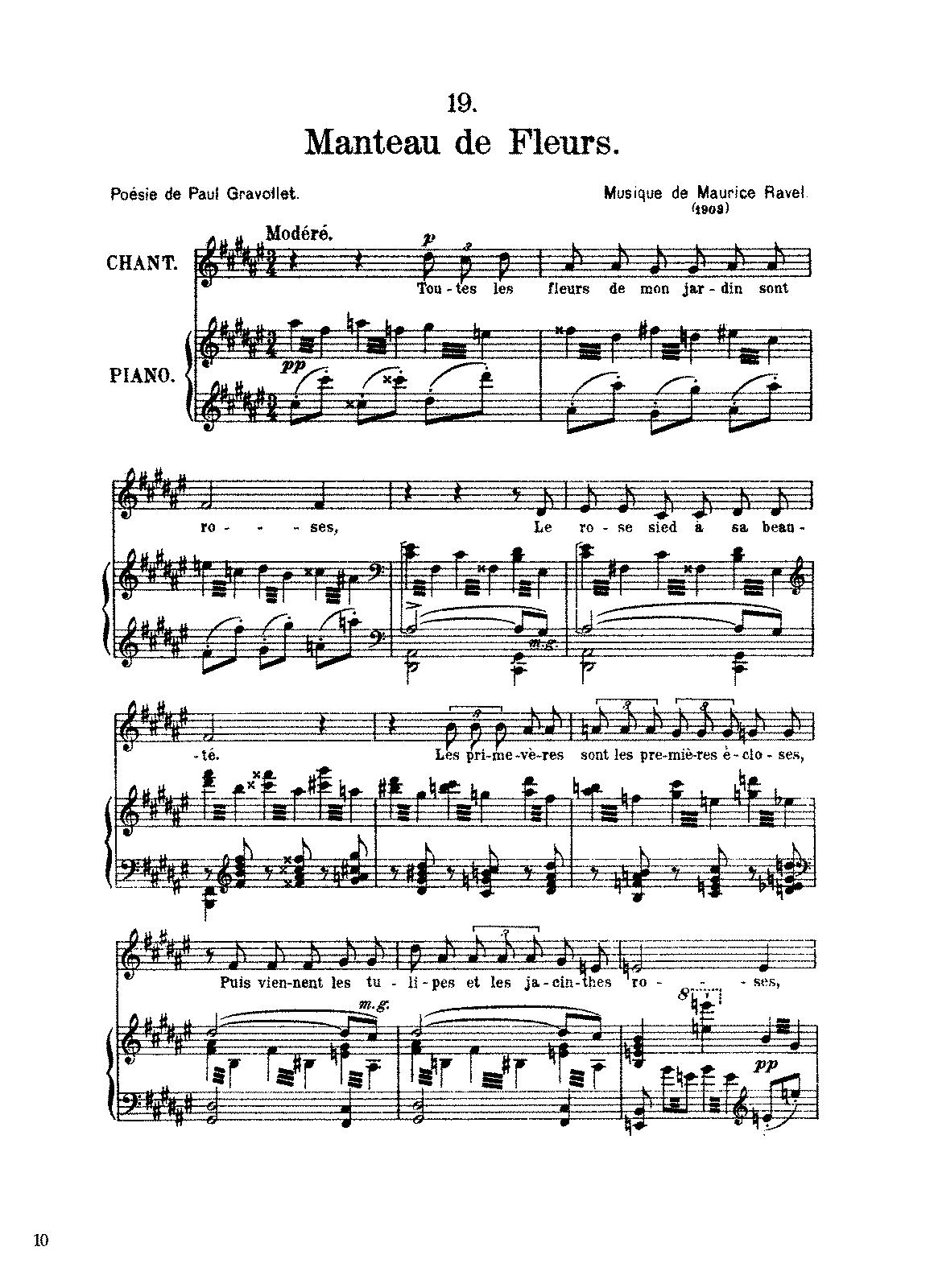 Manteau de fleurs (Ravel, Maurice) - IMSLP/Petrucci Music Library ...