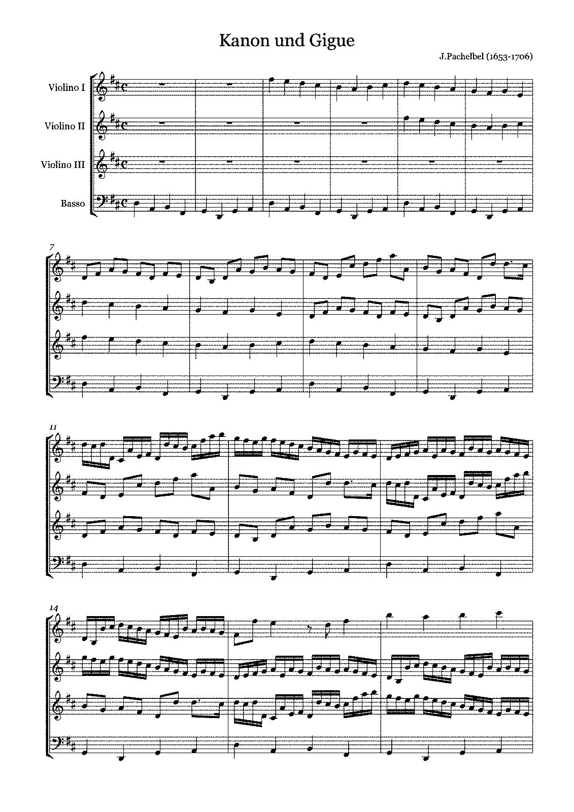 Canon and gigue in d major p37 pachelbel johann imslp sheet music hexwebz Gallery