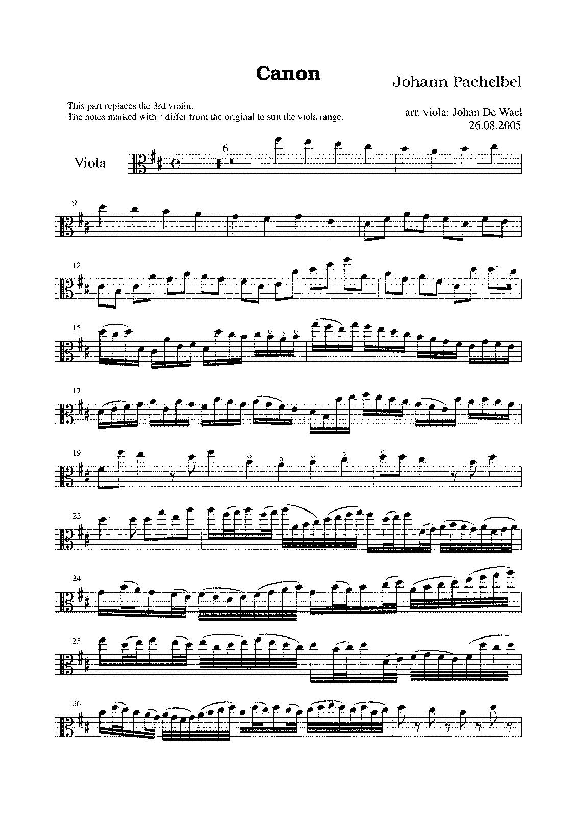 canon in d violin sheet music free pdf